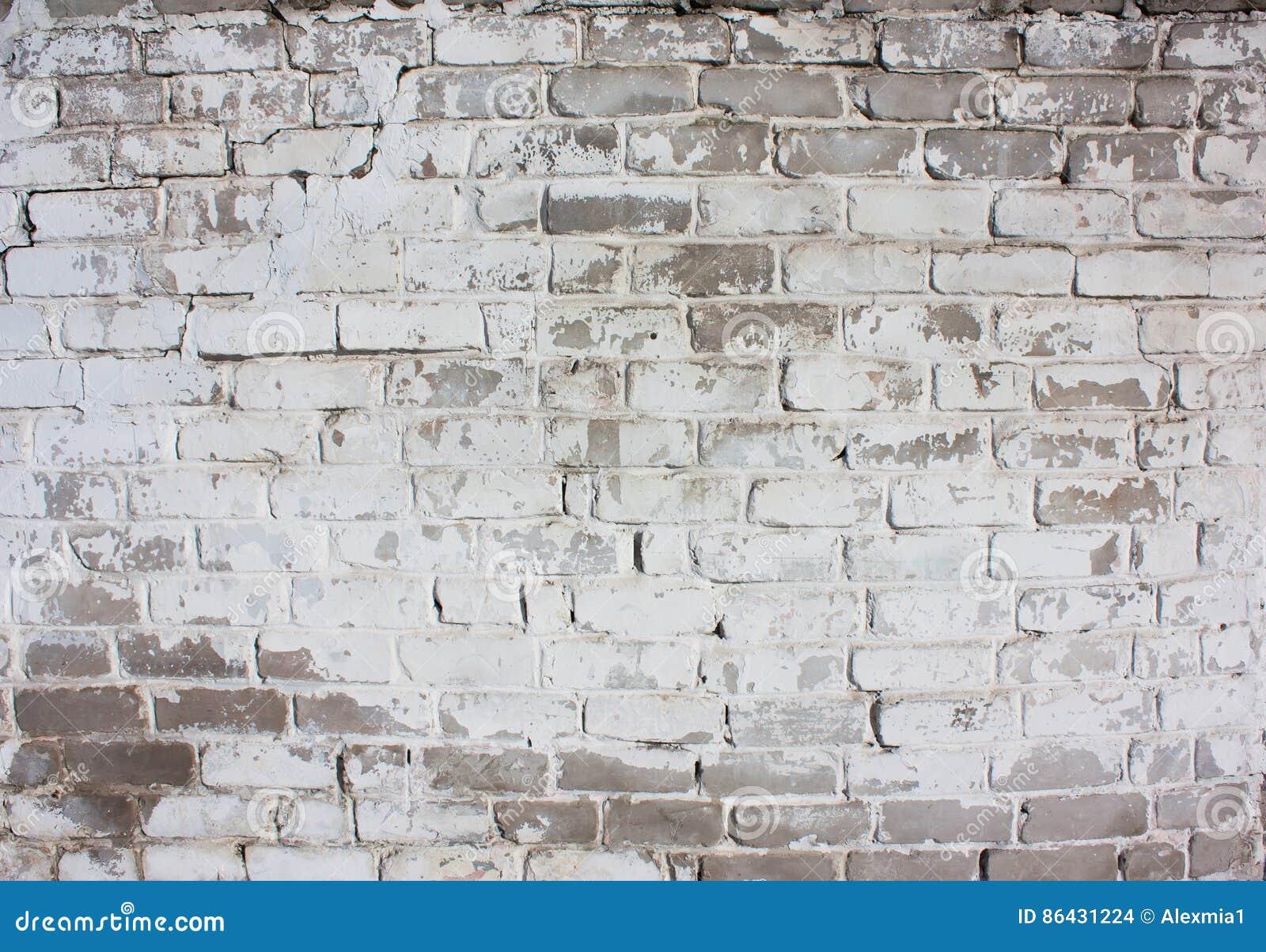 Maison Peinte En Blanc Exterieur mur blanc extérieur d'une vieille brique photo stock - image