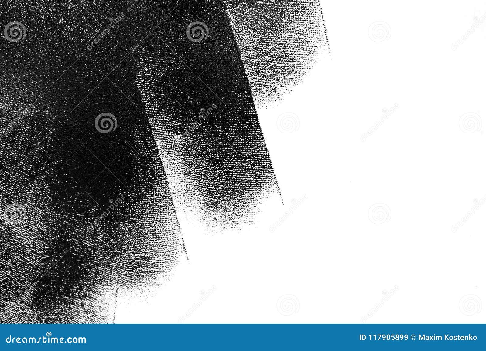 Mur Blanc Partiellement Peint Dans Le Noir Avec Un Rouleau