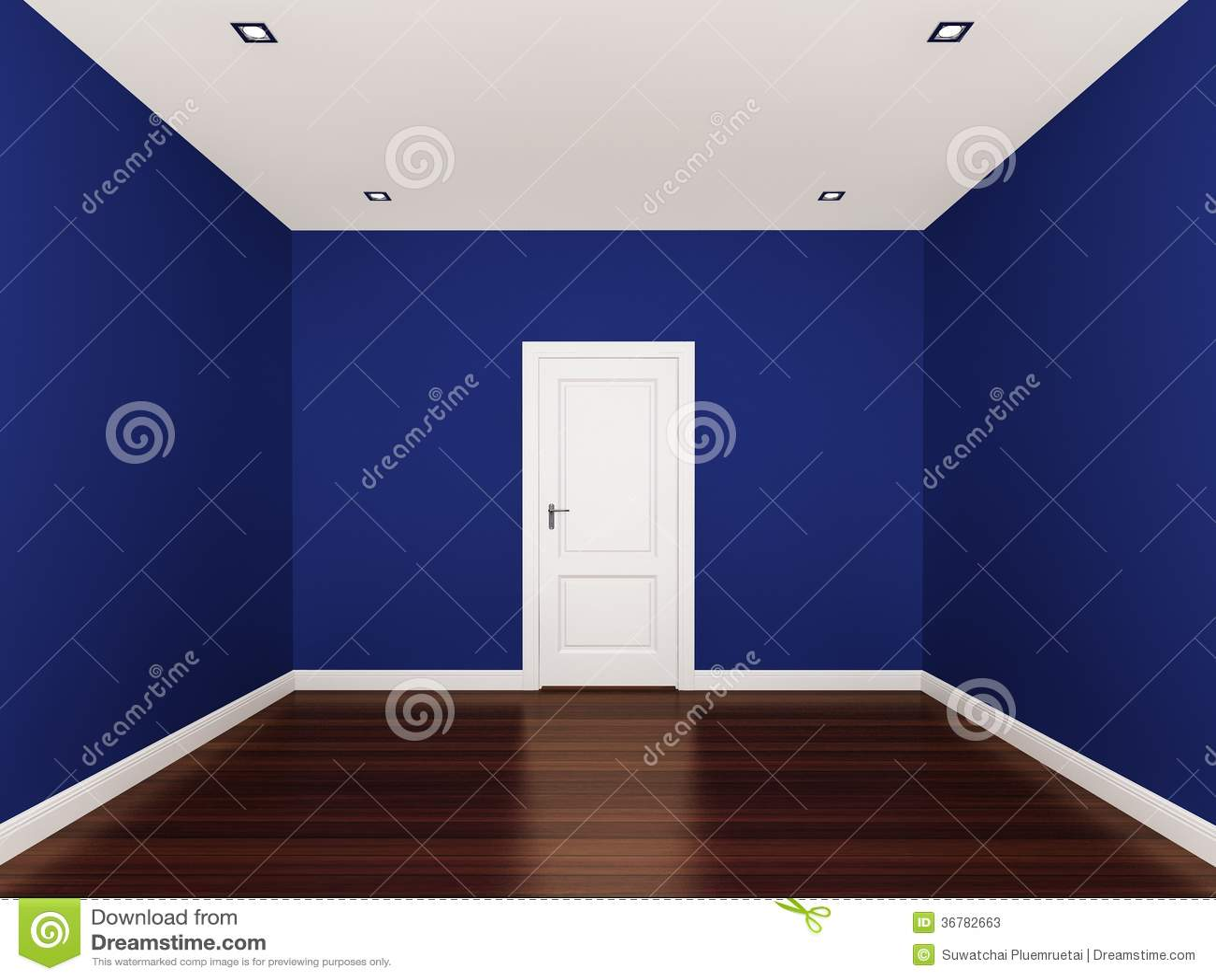 Mur bleu pi ce vide int rieur 3d photos stock image for Le vide interieur