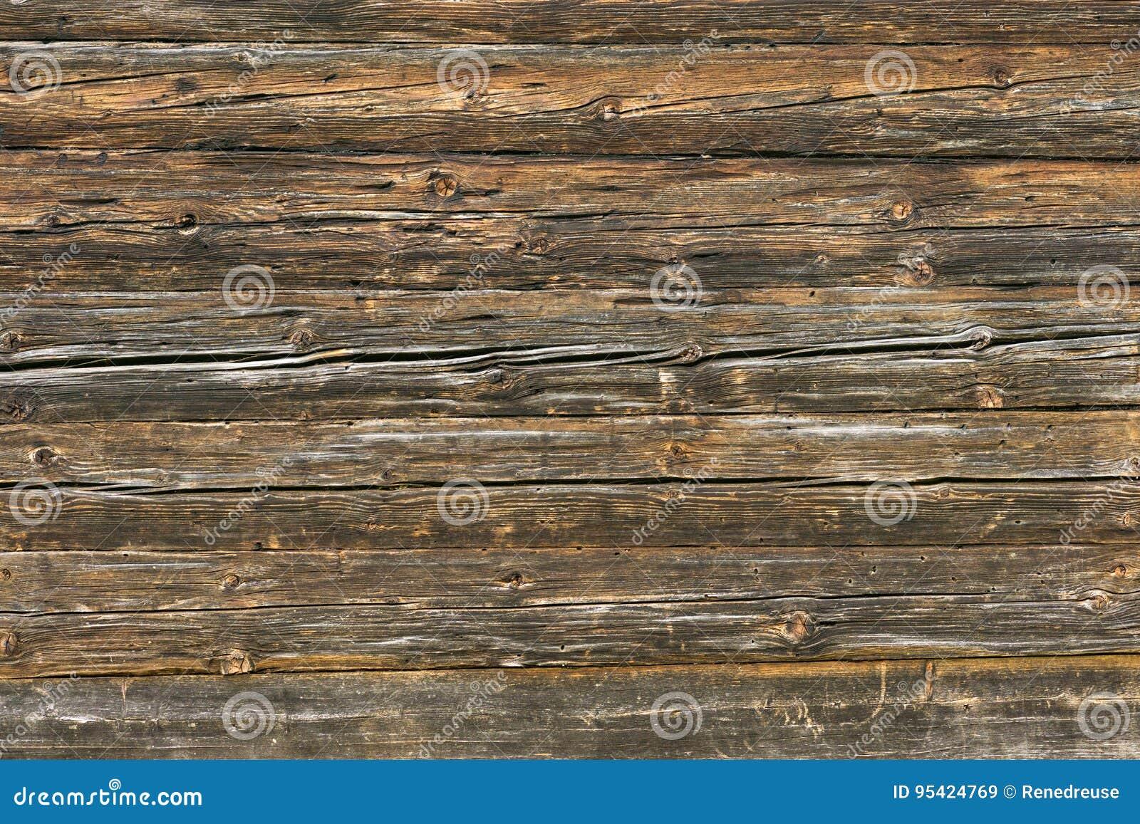 Mur brun naturel en bois de grange Modèle de fond de texture de mur