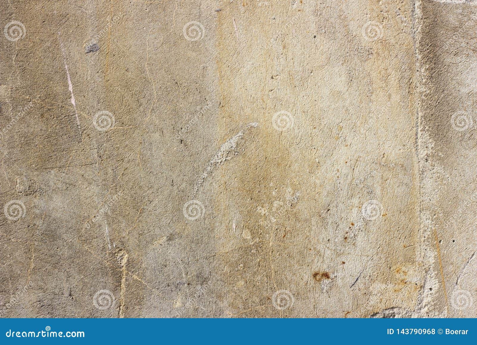 Mur concret de vieux cru criqué sale grunge et de ciment de moule de texture ou fond gris-clair de plancher avec la peinture supe