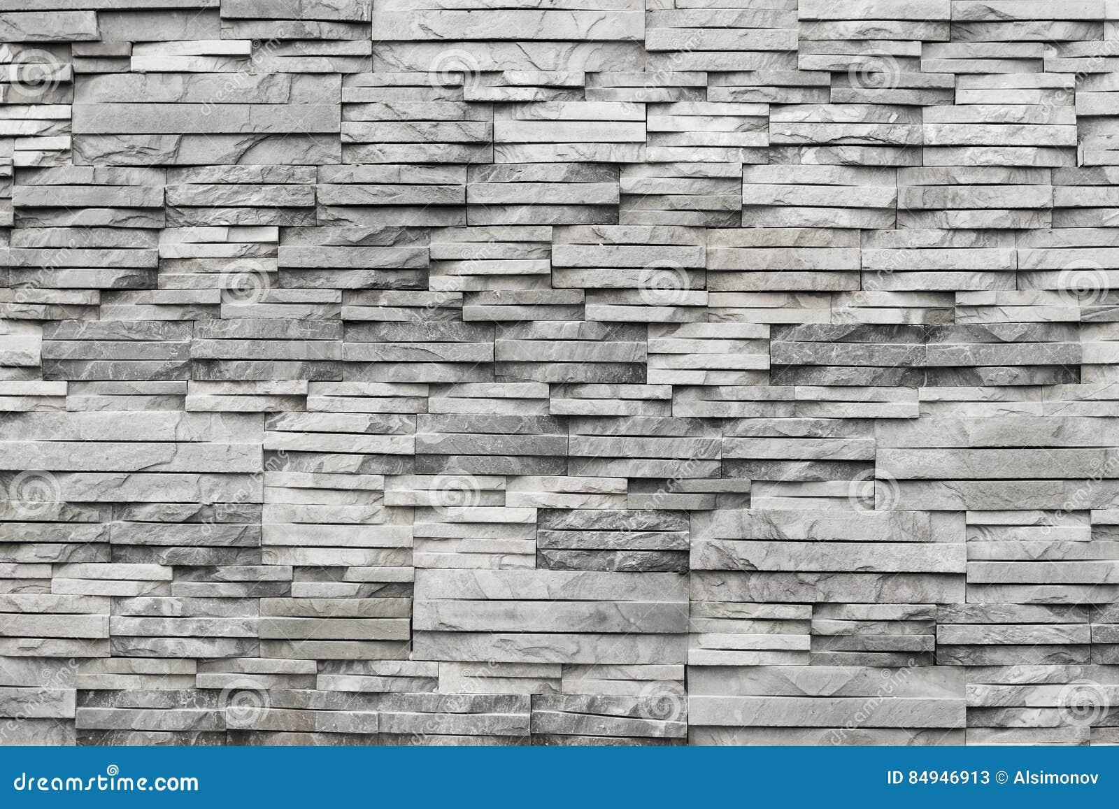 Mur Contemporain De Pierre Gris-clair Et Naturelle Texture Image ...