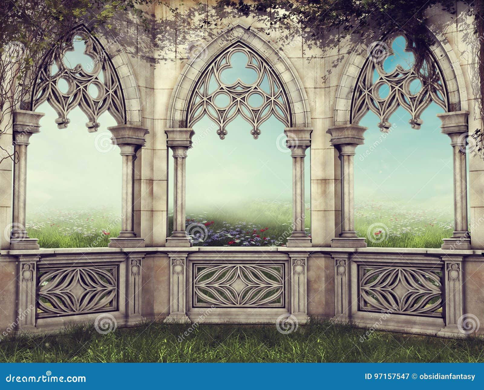 Mur d imagination avec des vignes