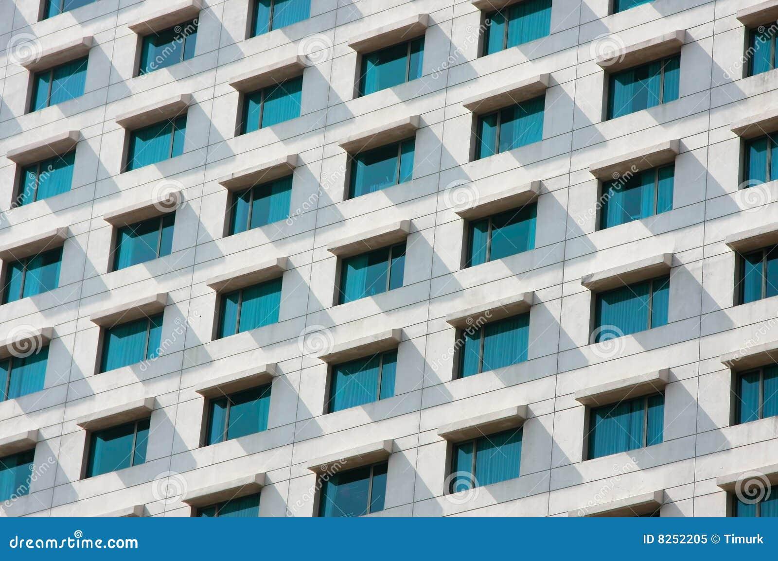 Mur d 39 immeuble de bureaux image stock image du for Immeuble bureau plan
