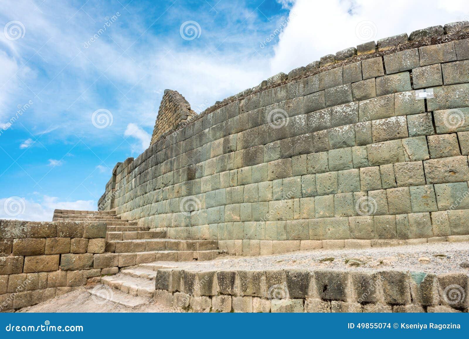 Mur d Inca d Ingapirca en Equateur