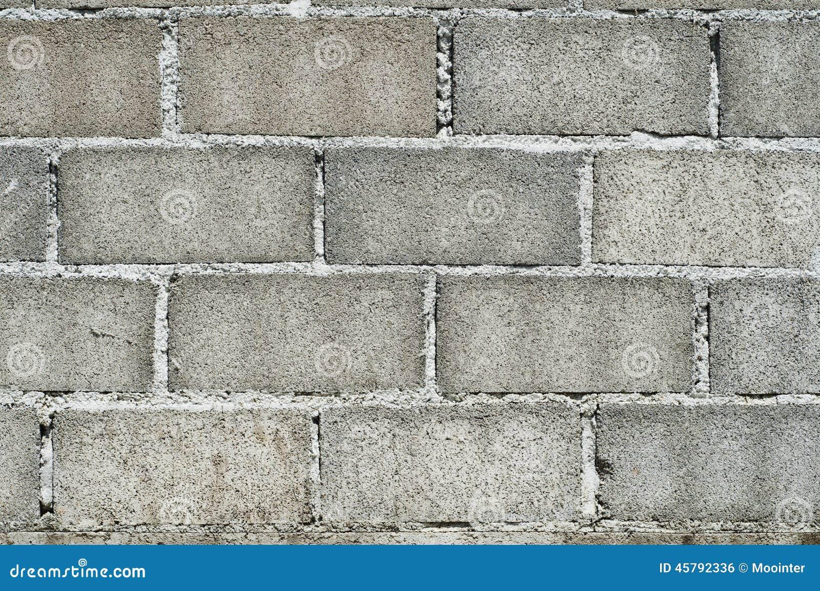 Mur de bloc de b ton photo stock image 45792336 - Accrocher cadre mur beton ...