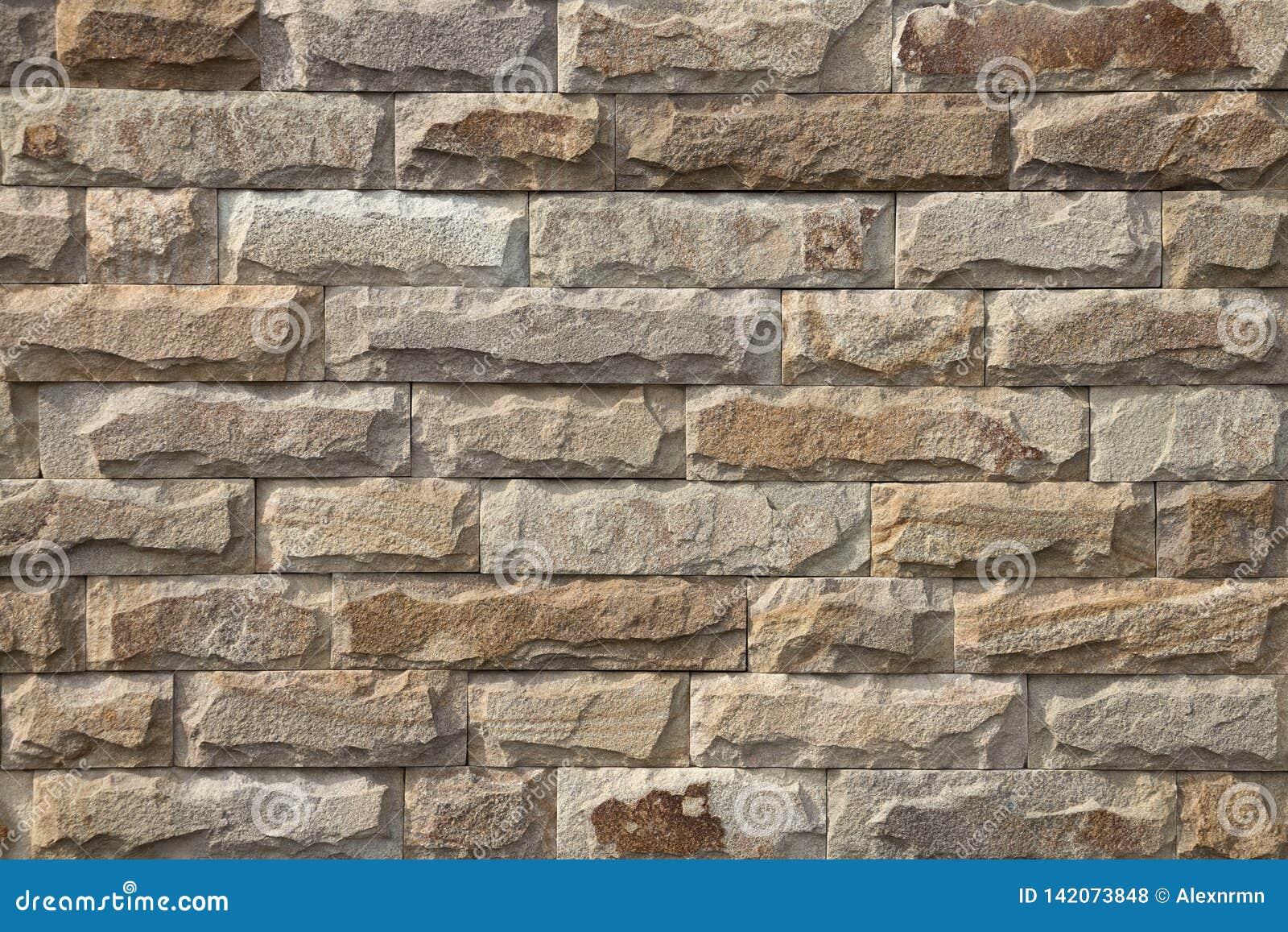 Mur En Pierre Naturelle mur de briques beige fait en pierre naturelle photo stock