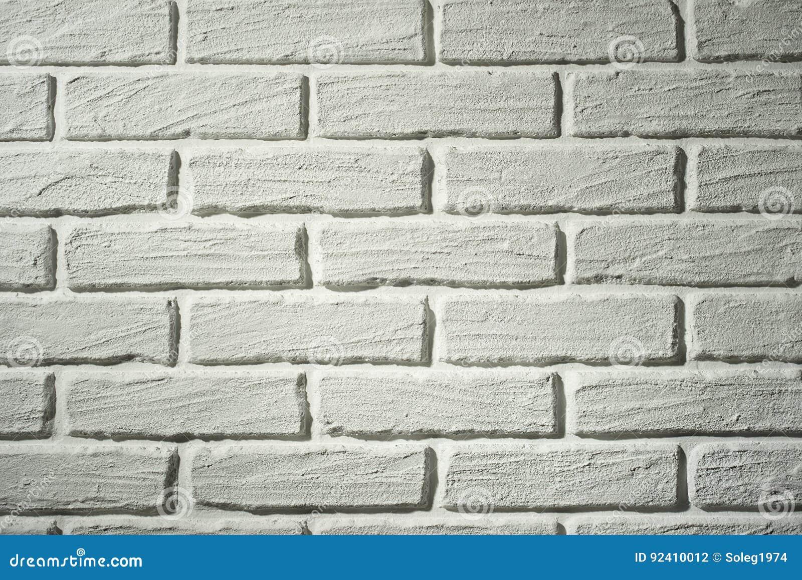Mur Effet Brique Blanche mur de briques blanc avec l'effet de la lumière et l'ombre