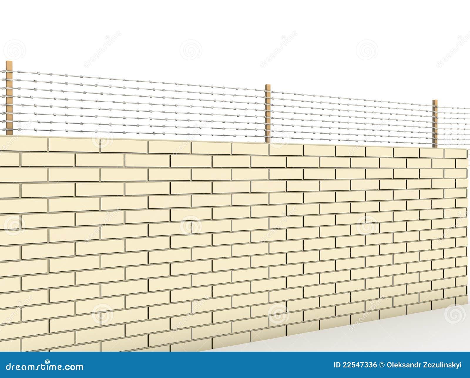 mur de briques blanc compl t avec le barbel 1 image libre de droits image 22547336. Black Bedroom Furniture Sets. Home Design Ideas