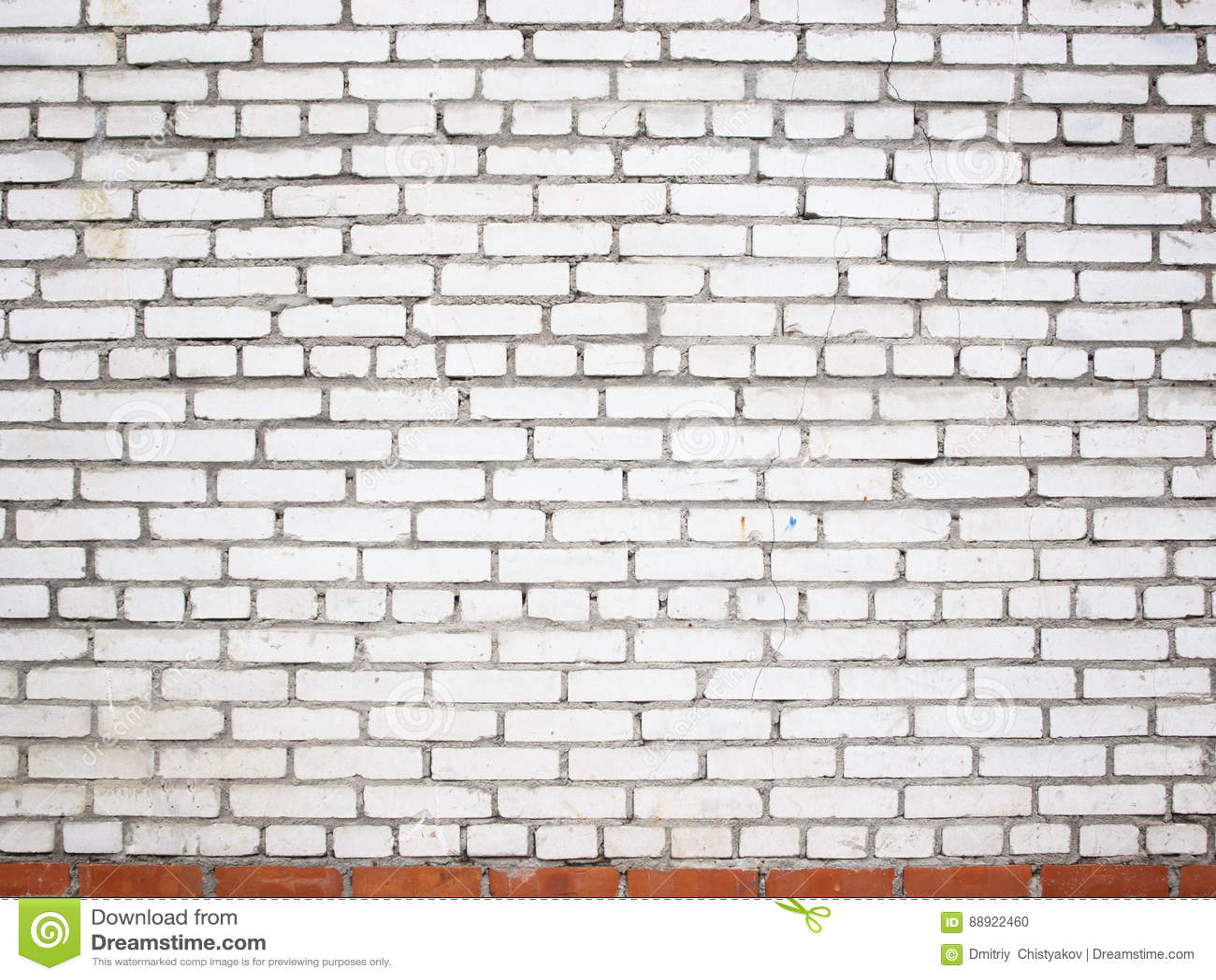 Mur Effet Brique Blanche mur de briques blanc grunge, surface en pierre comme fond