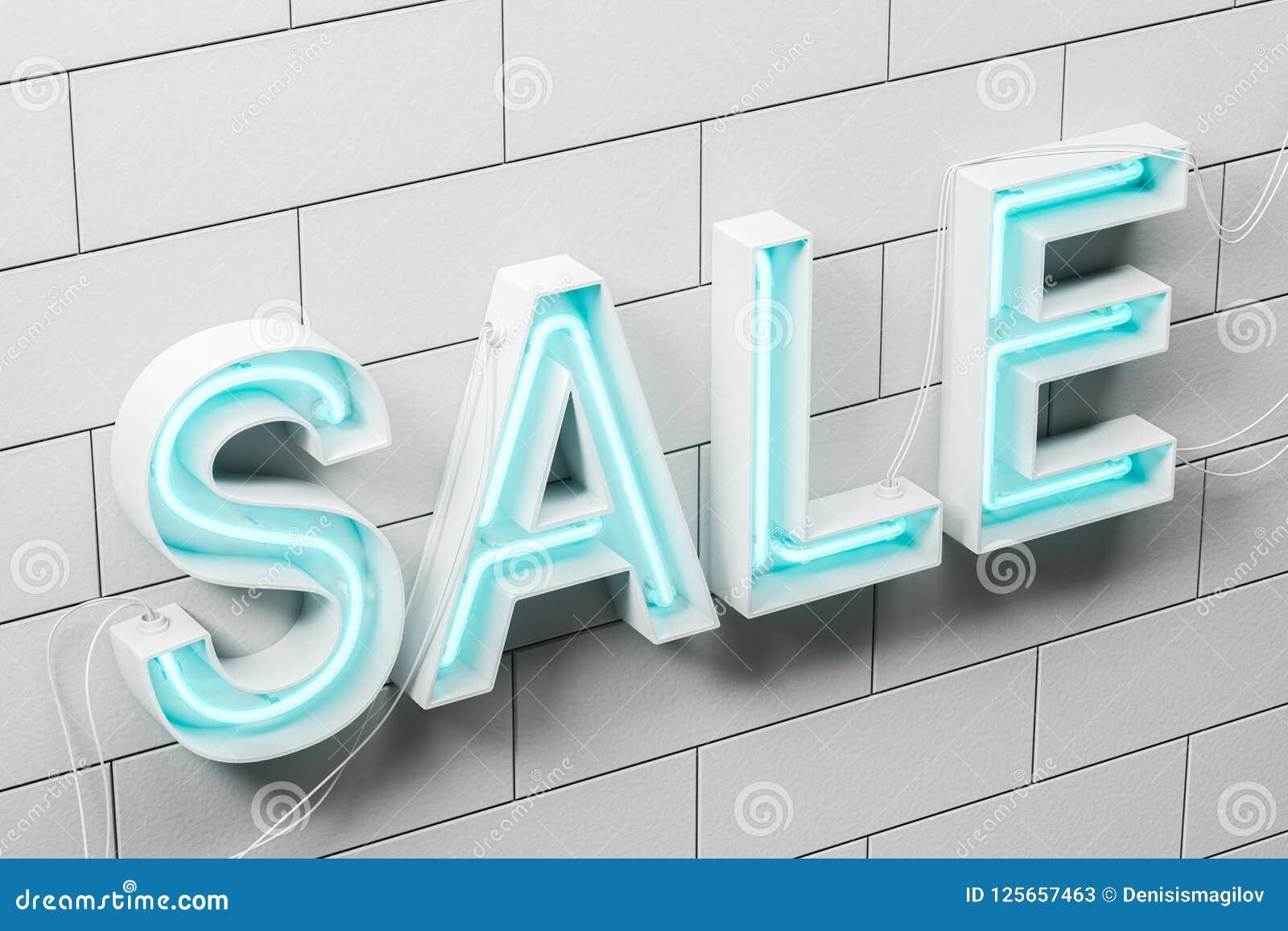 Neon A Accrocher Au Mur mur de briques blanc de signe bleu au néon de vente