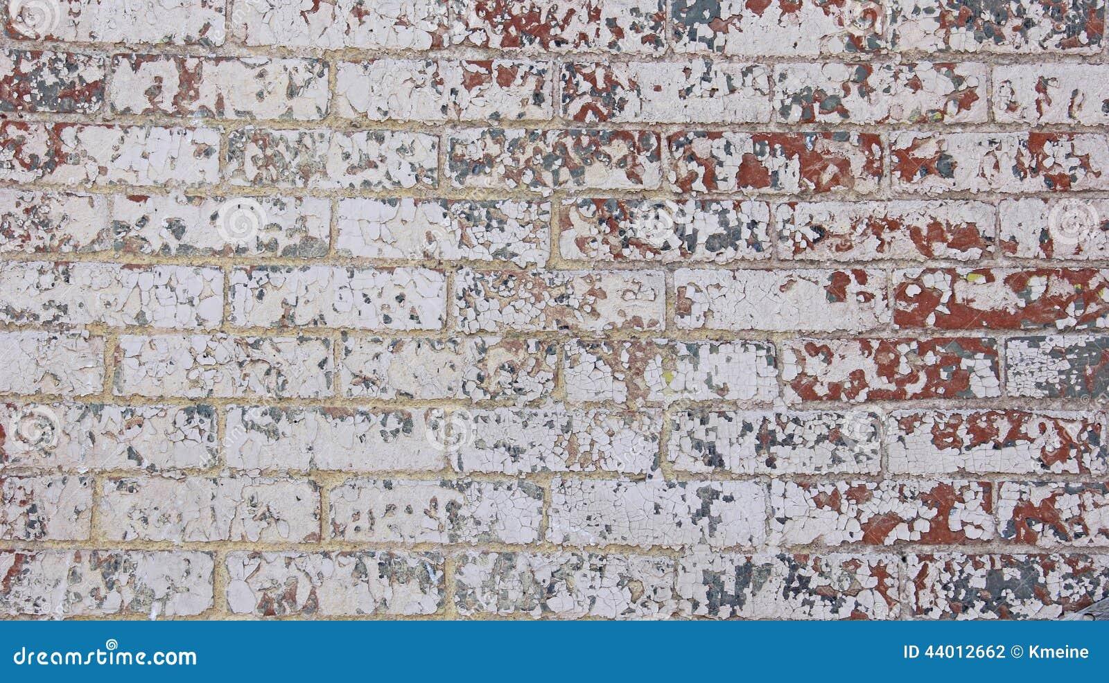 Mur De Briques Bleu Gris Blanc Rouge Br Ch De Peinture