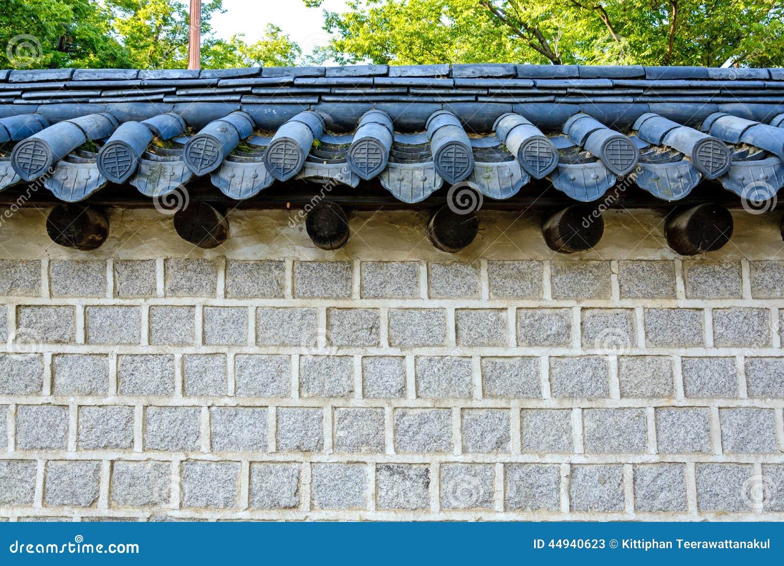 Mur de briques coréen de style