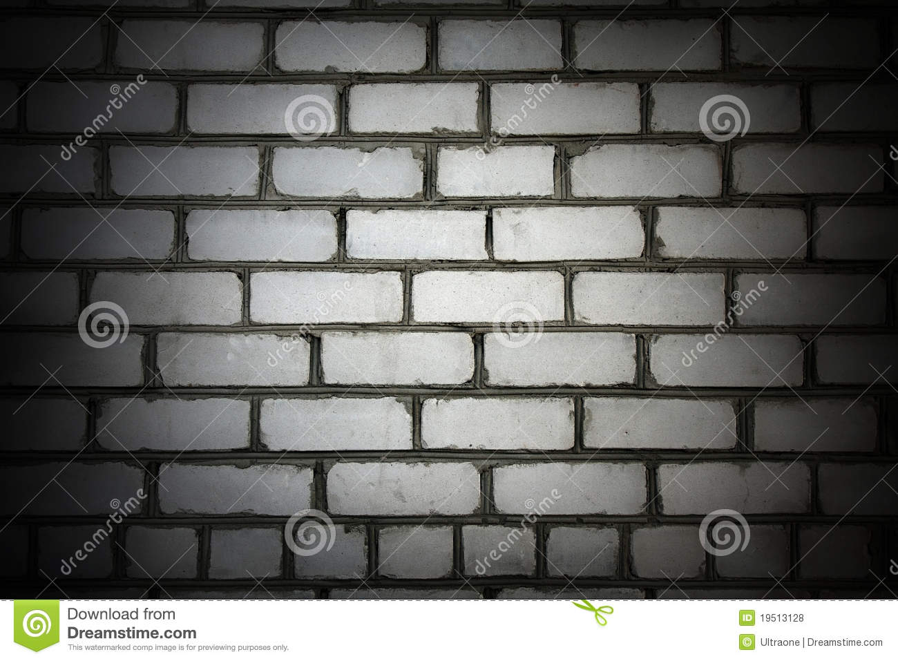 Mur de briques de blanc de vignette photo stock image for Dessin mur