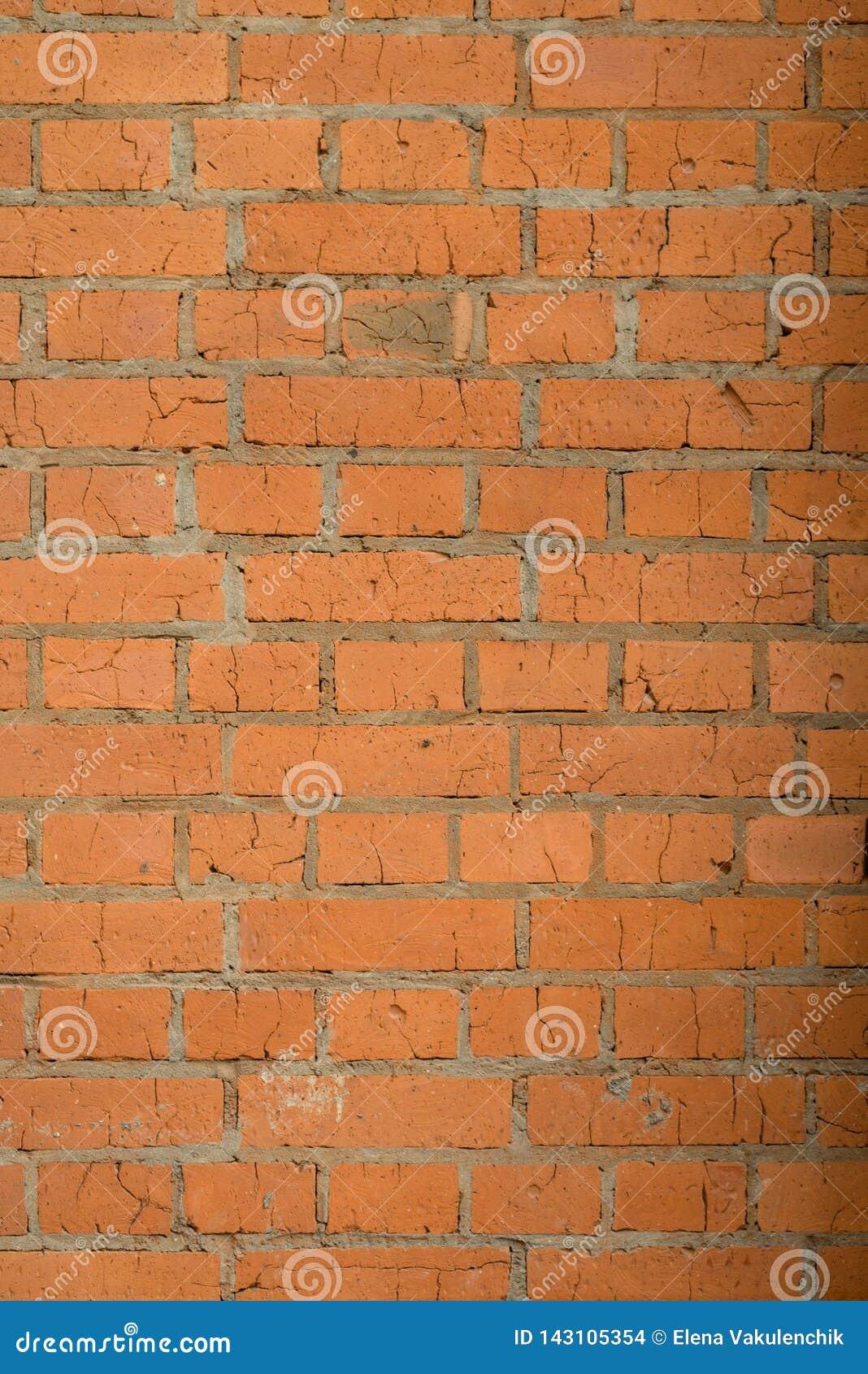 Mur de briques durable et lumineux de vieille maison