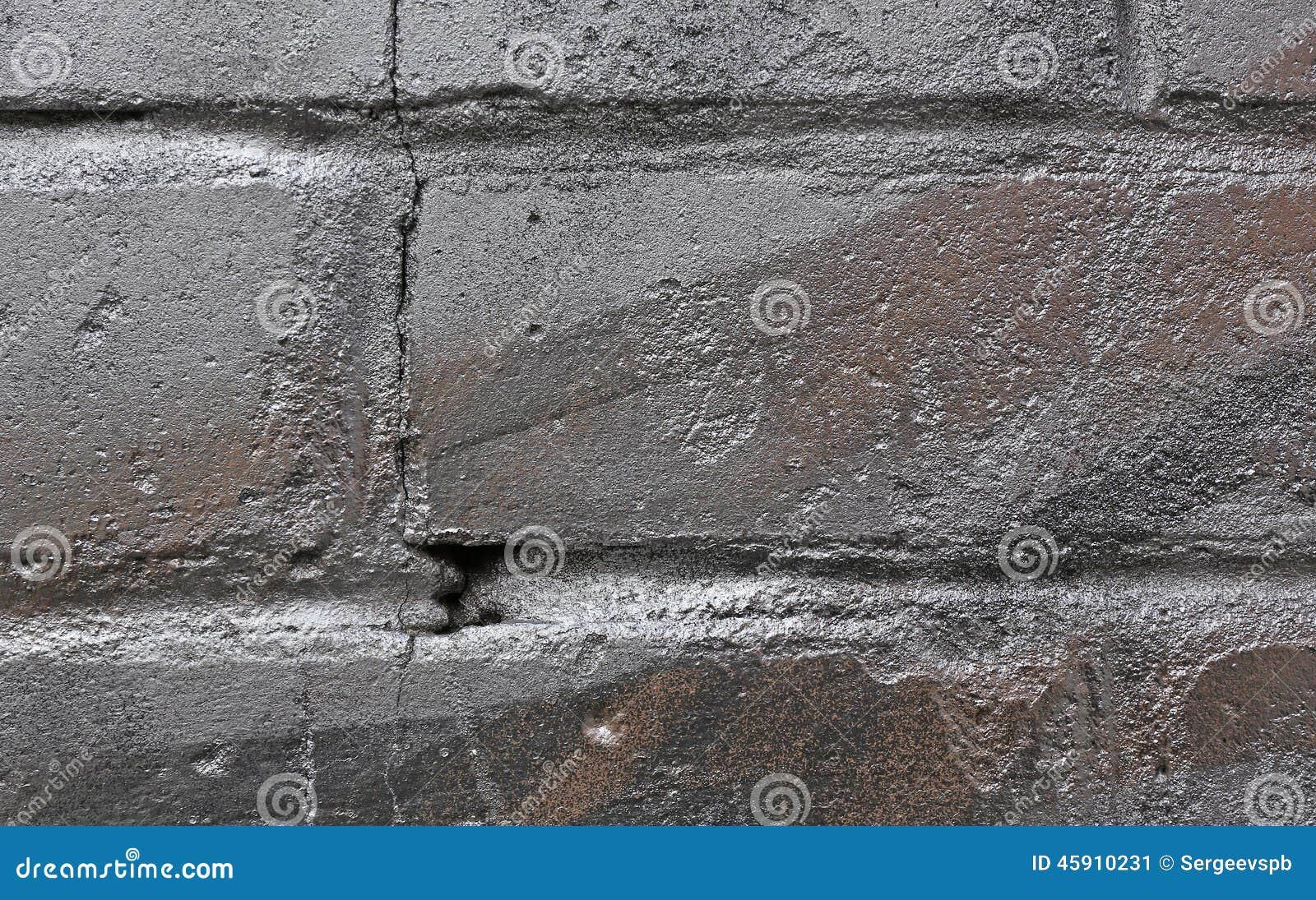 mur de briques en peinture argent e photo stock image. Black Bedroom Furniture Sets. Home Design Ideas