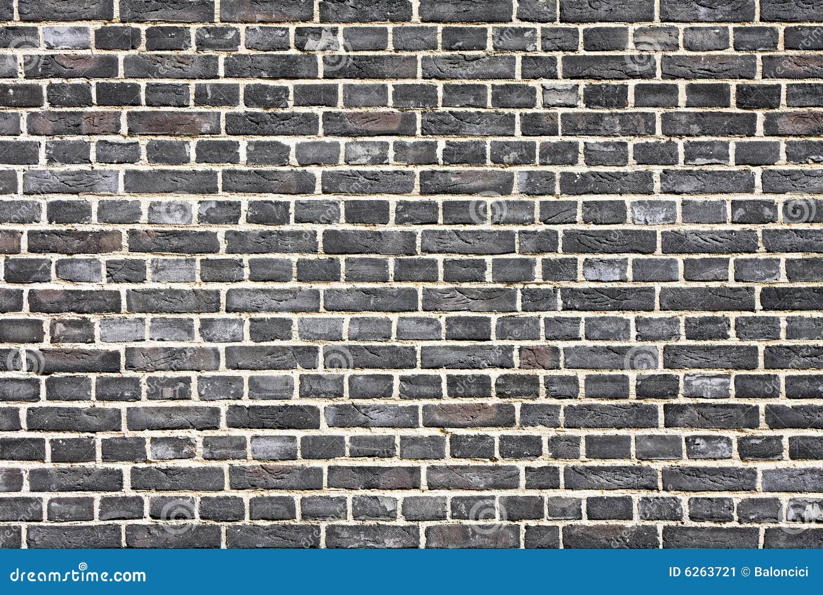 mur de briques noir image stock image 6263721. Black Bedroom Furniture Sets. Home Design Ideas