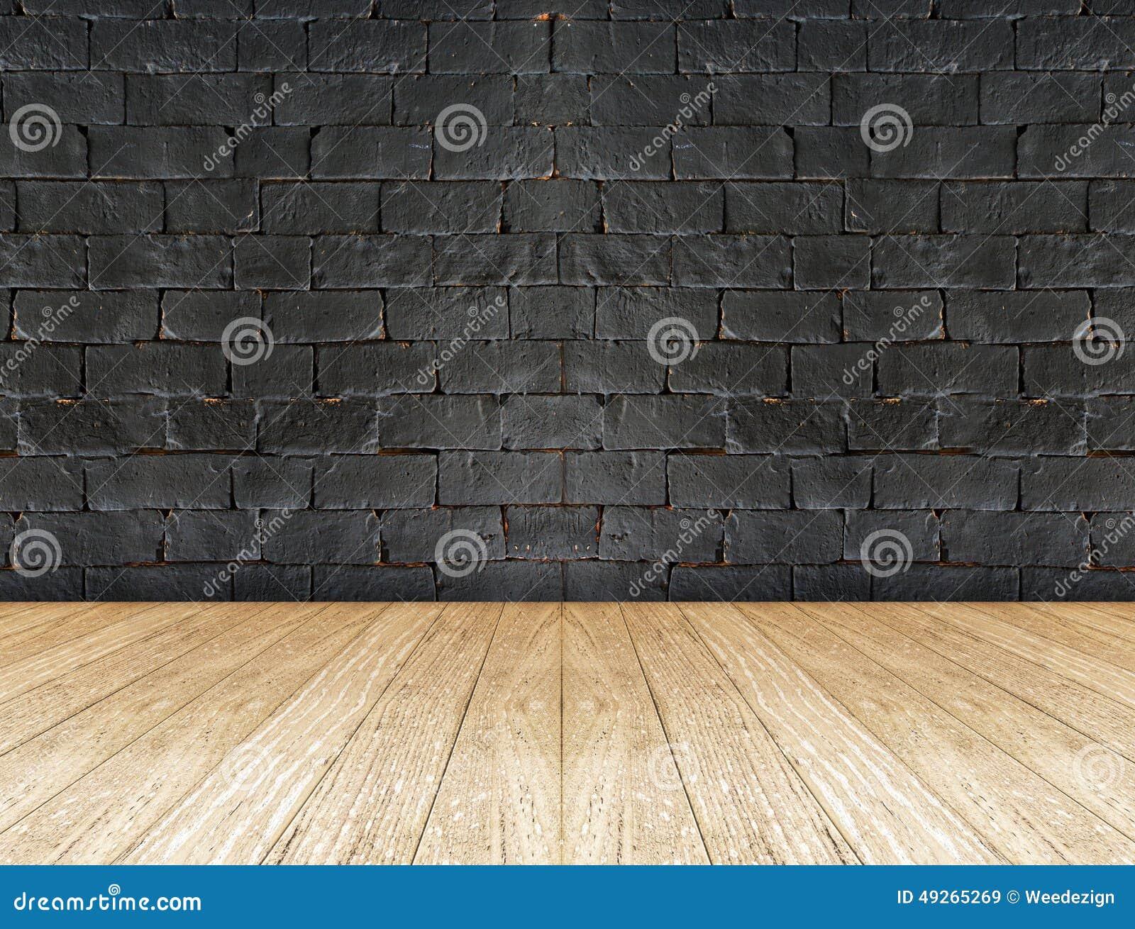 Mur de briques noir et plancher en bois photo stock image 49265269 - Mur privatif droit et devoir ...