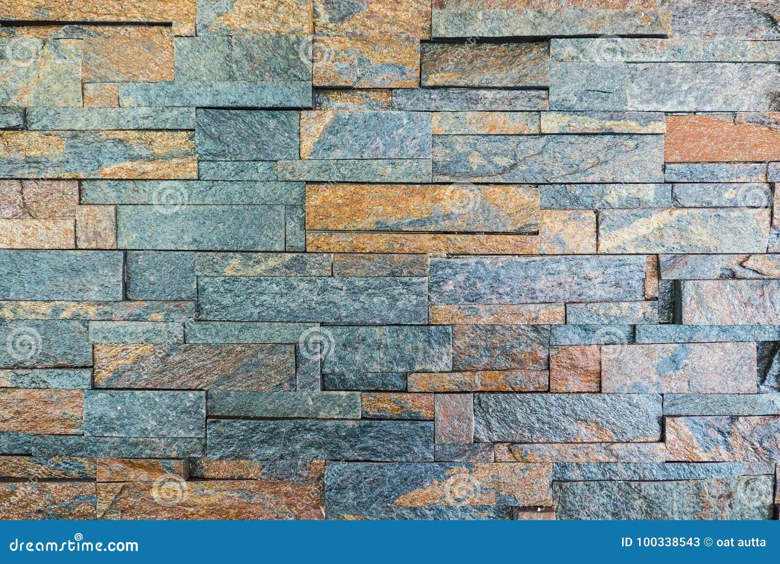 Mur De Briques Orange Et Gris Pour Le Papier Peint Surface Texture