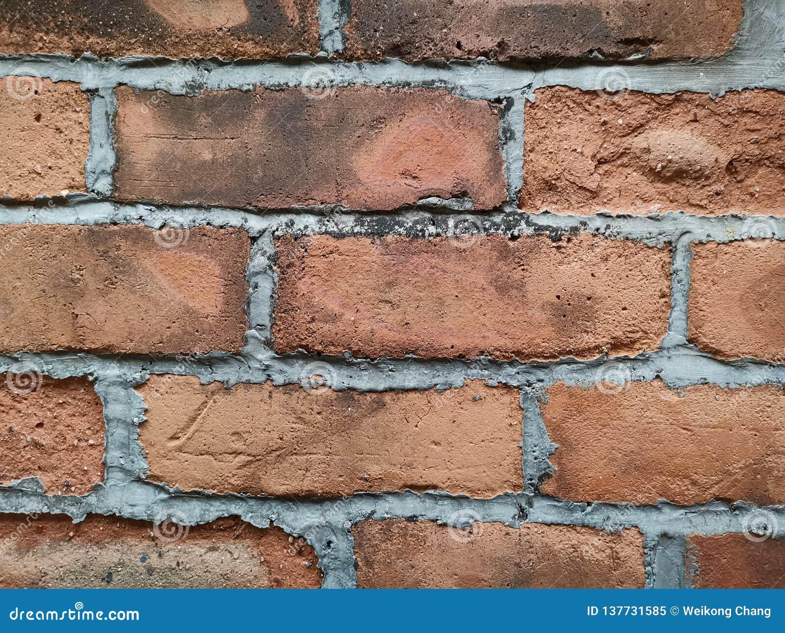 Mur de briques rouge à de nouveaux territoires Hong Kong