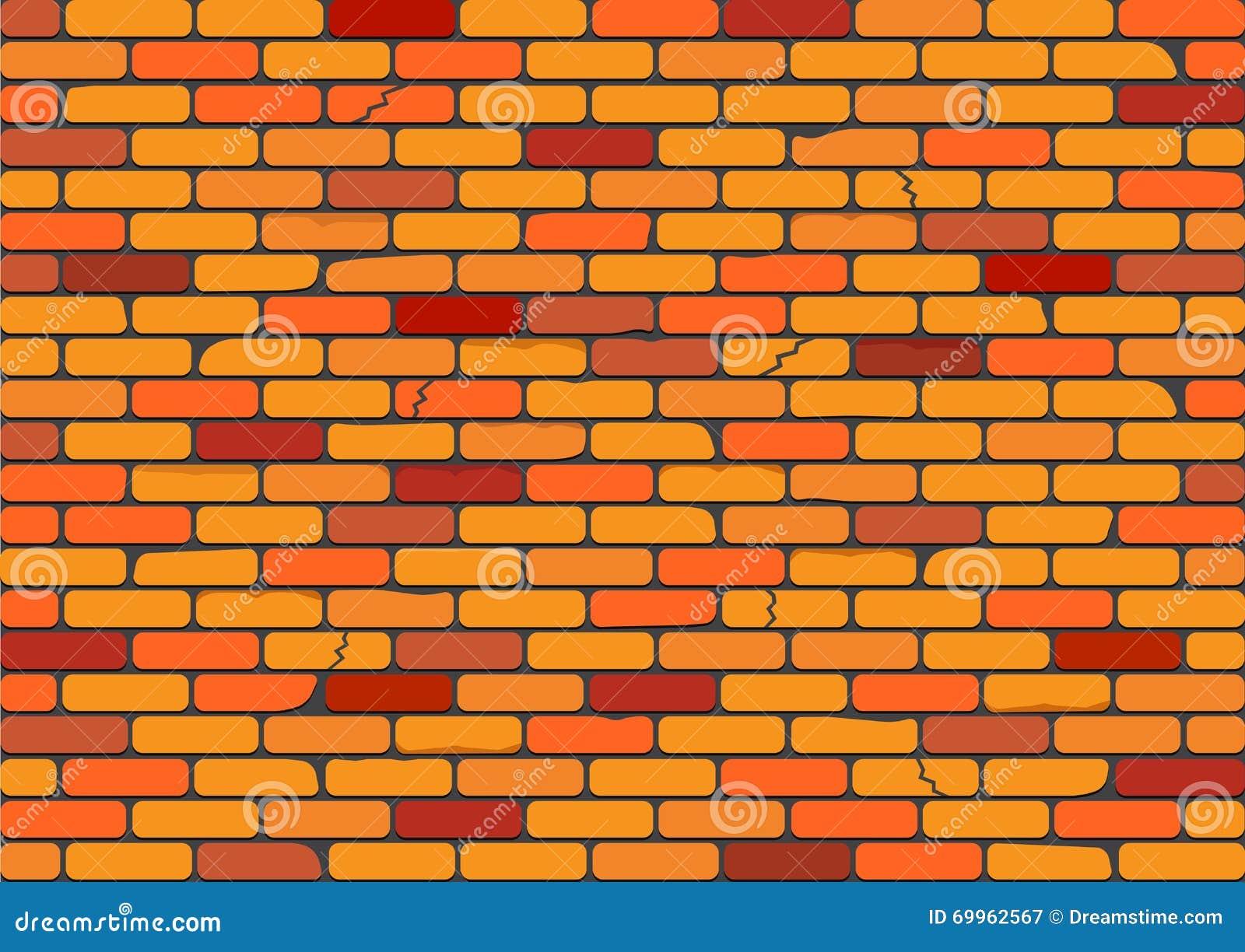 mur de briques rouge illustration stock image 69962567. Black Bedroom Furniture Sets. Home Design Ideas