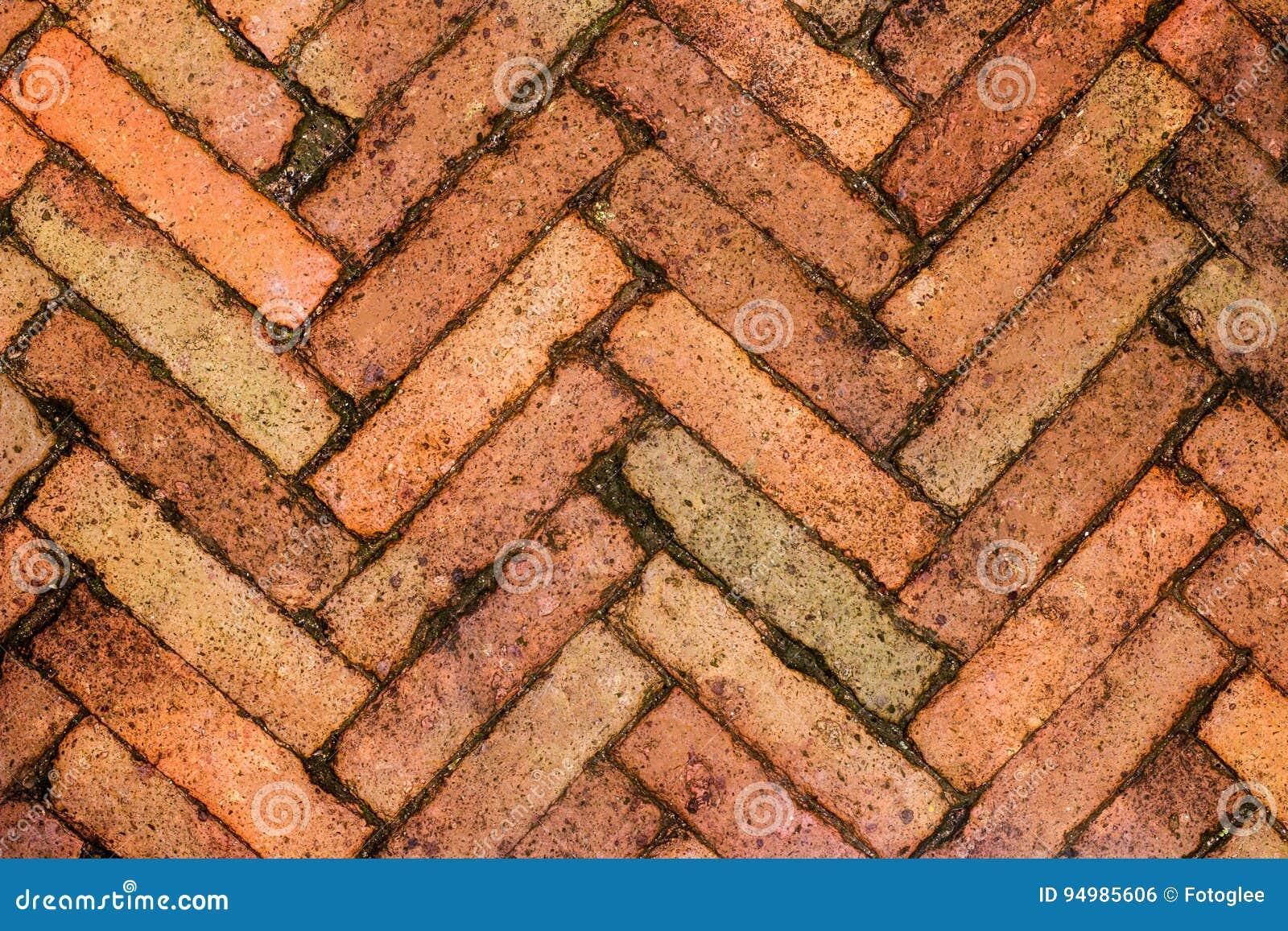 Mur de briques rouge, idéal pour un fond