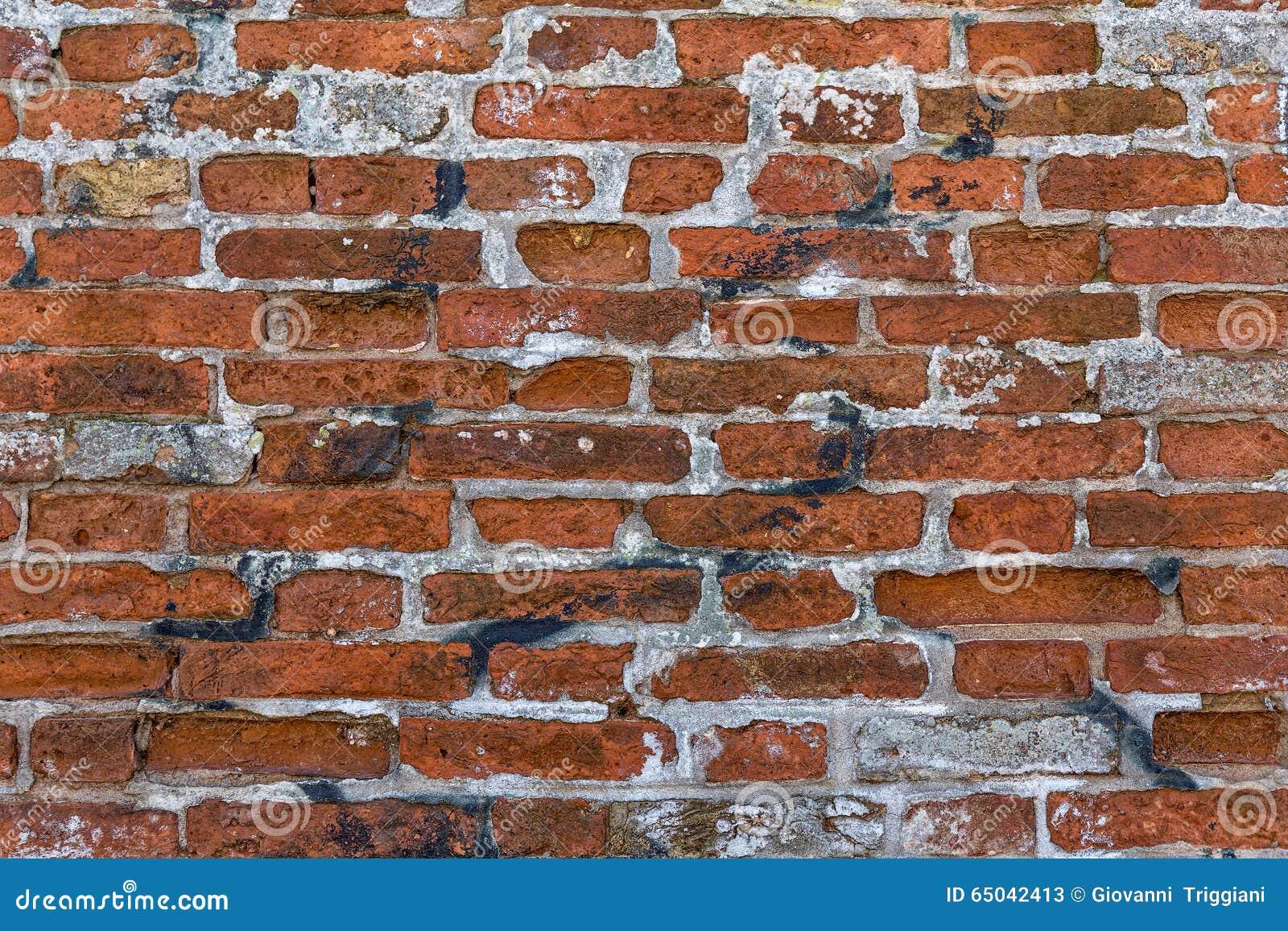 Mur de briques rouge sale murales photo stock image 65042413 - Fausses briques murales ...
