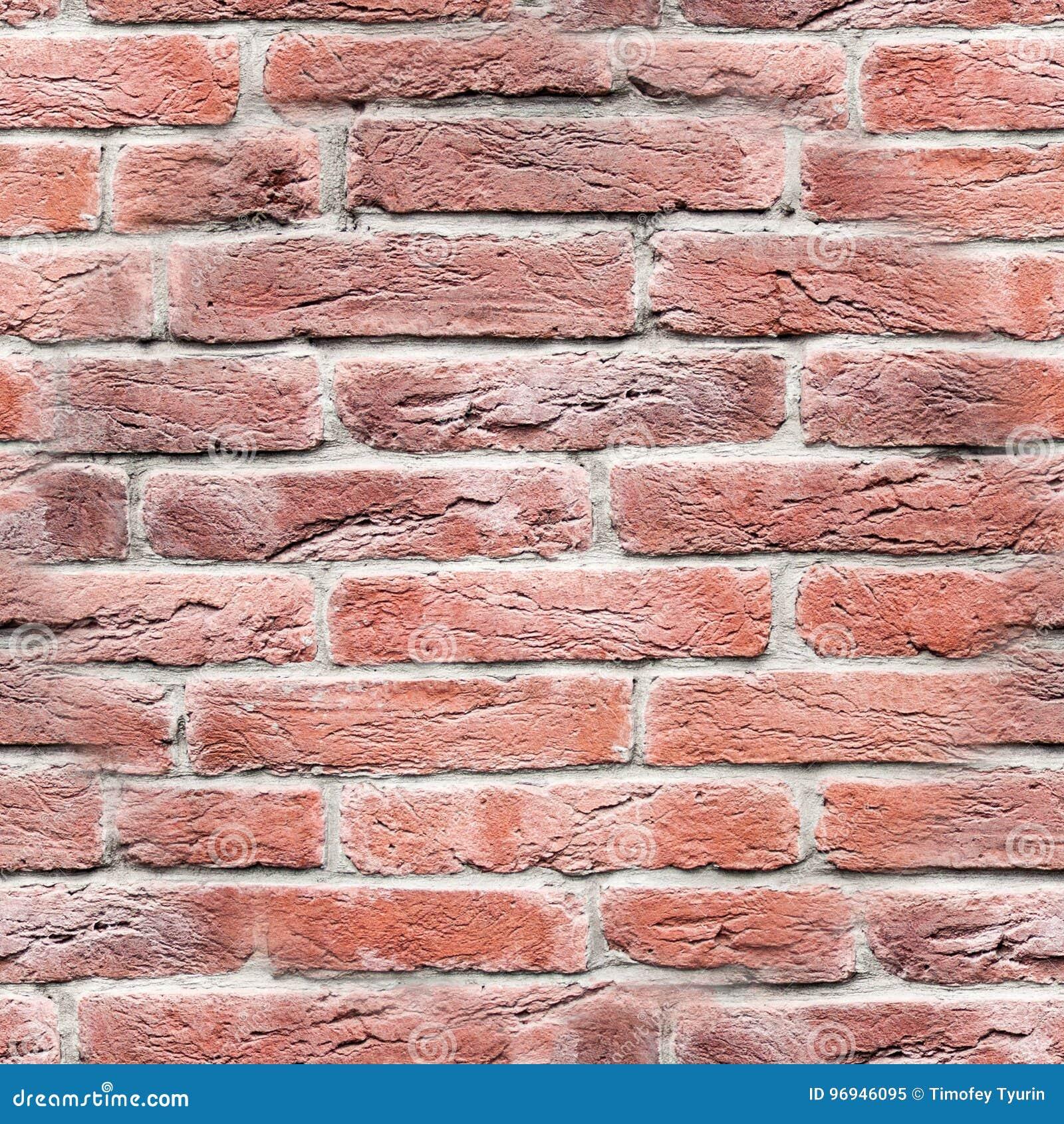 Mur En Brique Rouge mur de briques rouge sans joint texture, fond image stock