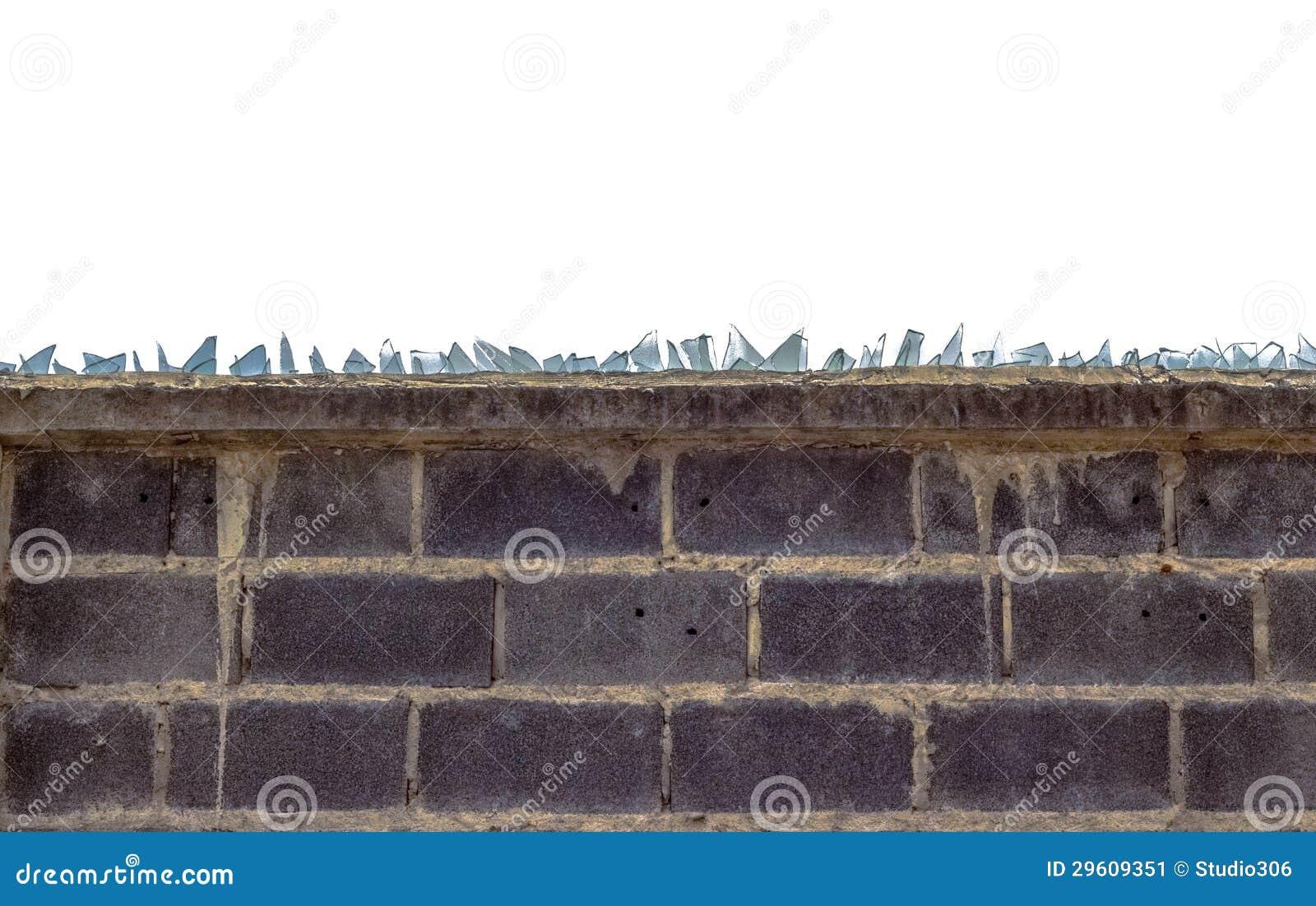 mur de briques rugueux et verre cass image stock image. Black Bedroom Furniture Sets. Home Design Ideas