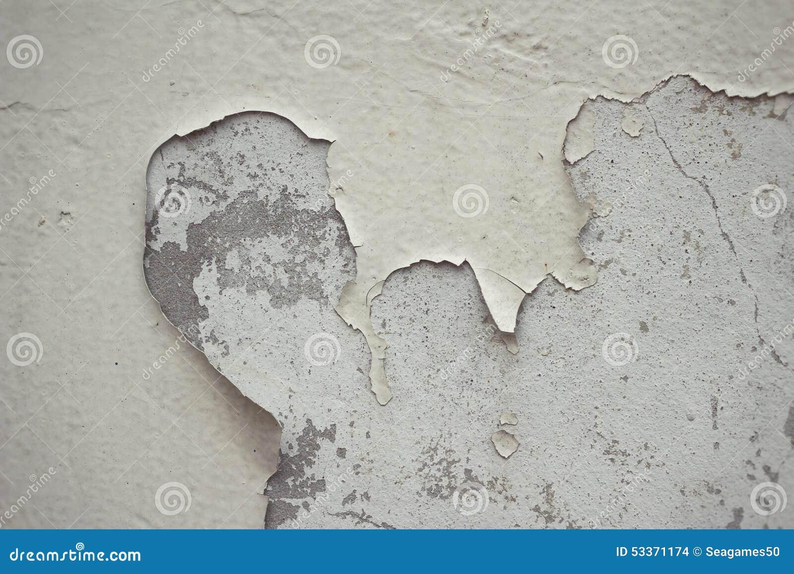Mur De Ciment Avec La Peinture Dépluchage Photo stock - Image ...