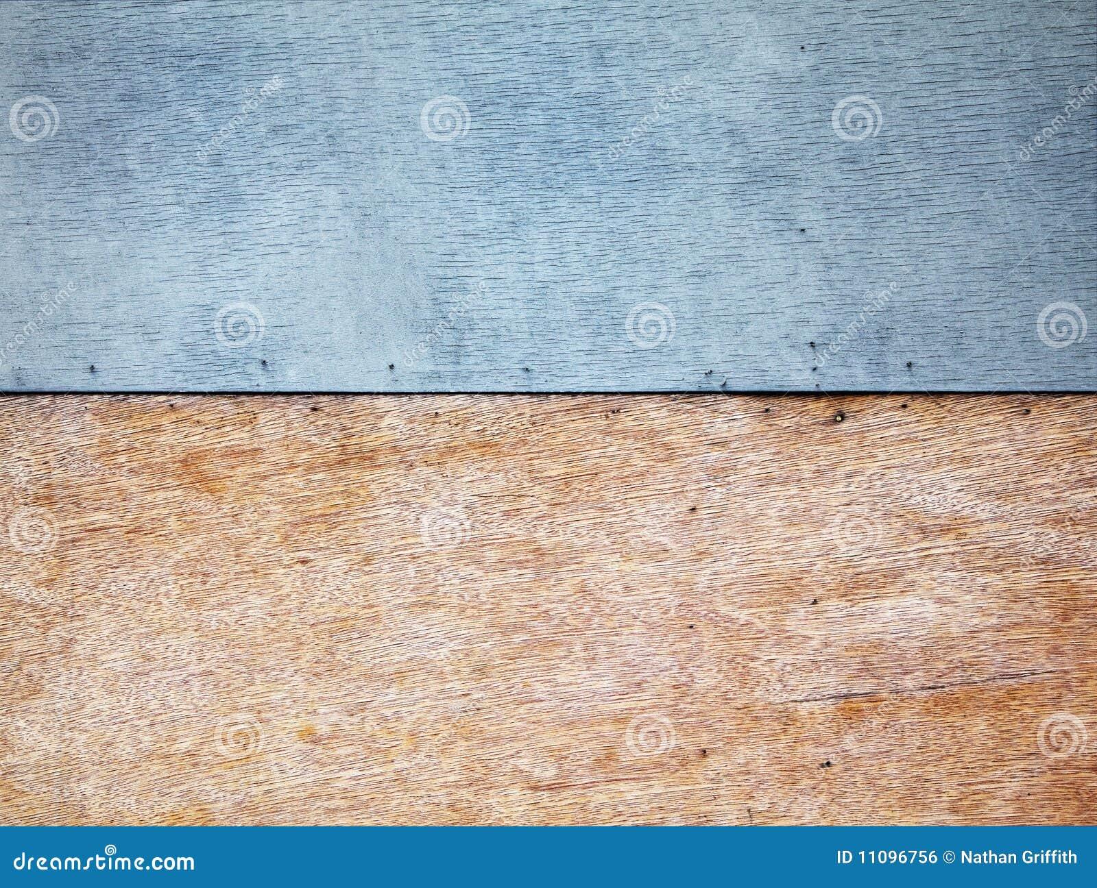 Mur de contre-plaqué