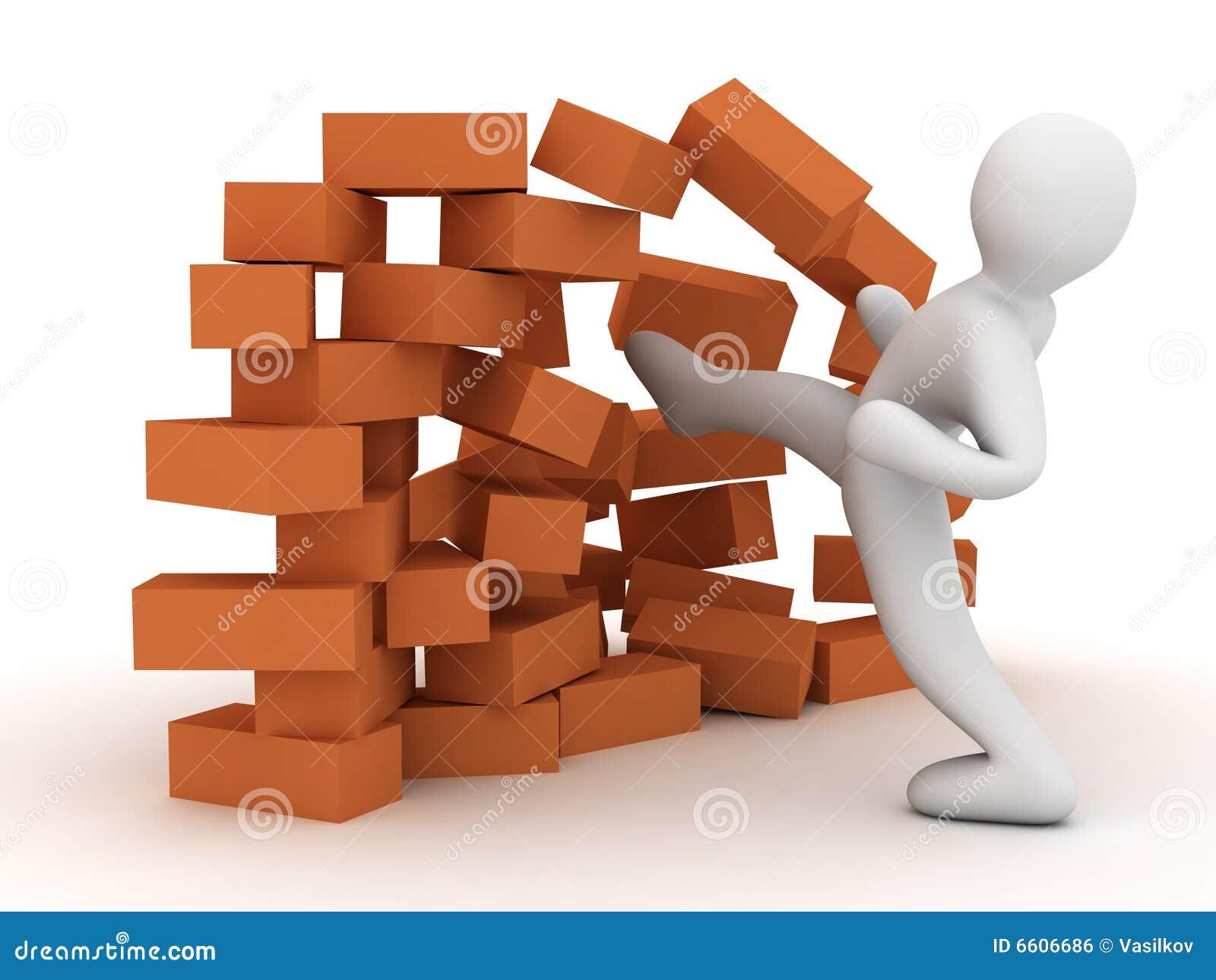 Mur de destruction image libre de droits image 6606686 - Destruction mur porteur ...