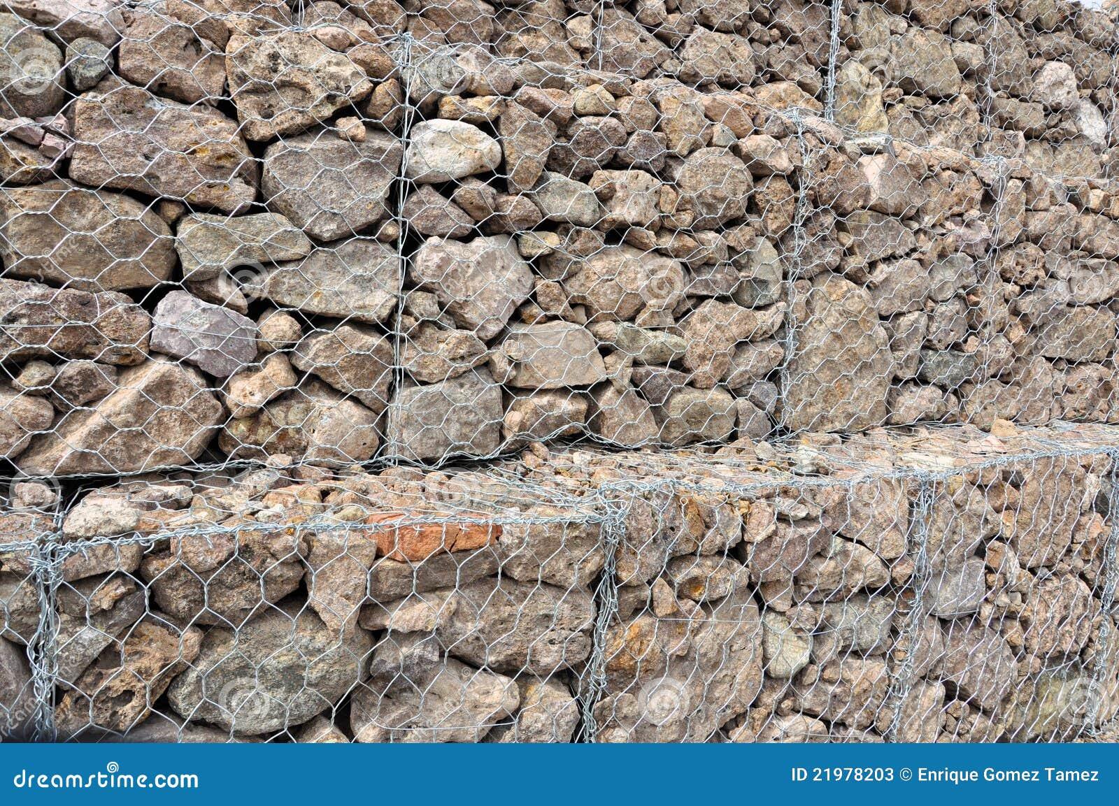 mur de gabion image stock image du roches retenue outdoors 21978203. Black Bedroom Furniture Sets. Home Design Ideas
