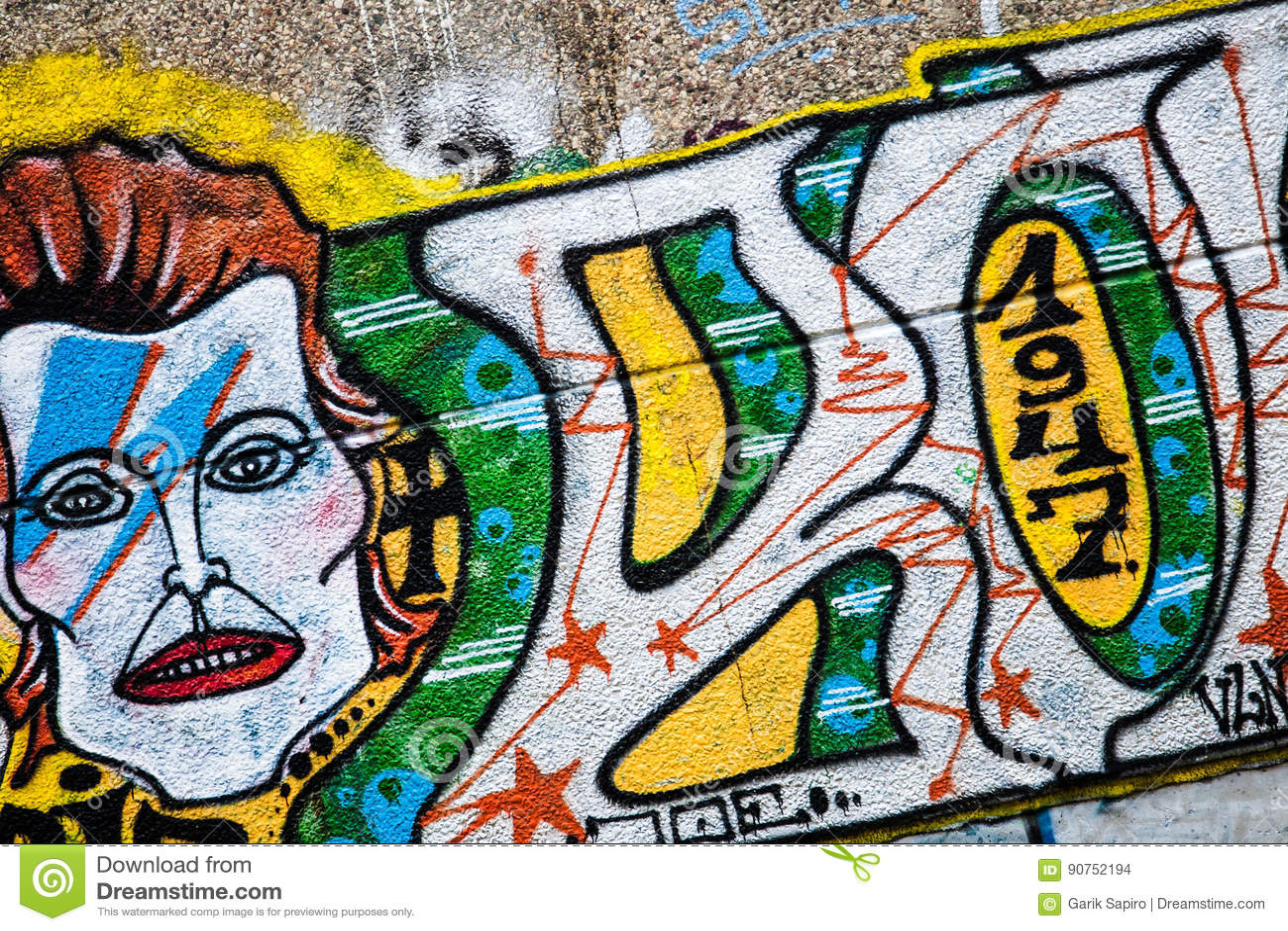 Mur de la rue art