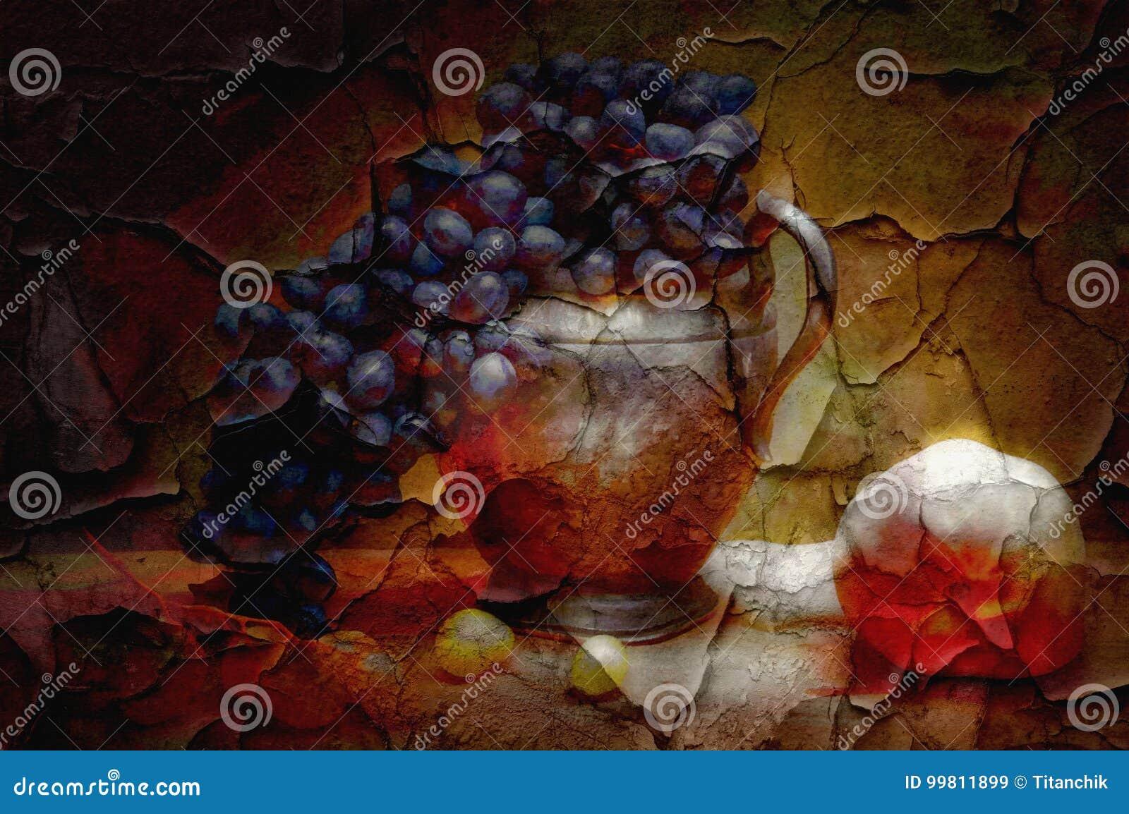 Peindre Une Fresque Sur Un Mur mur de peinture de fresque illustration stock. illustration