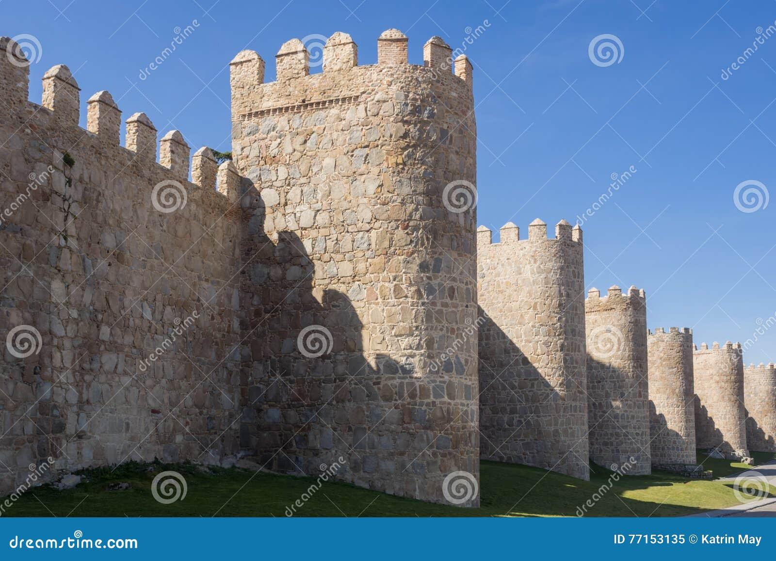 Mur de ville d Avila, Espagne