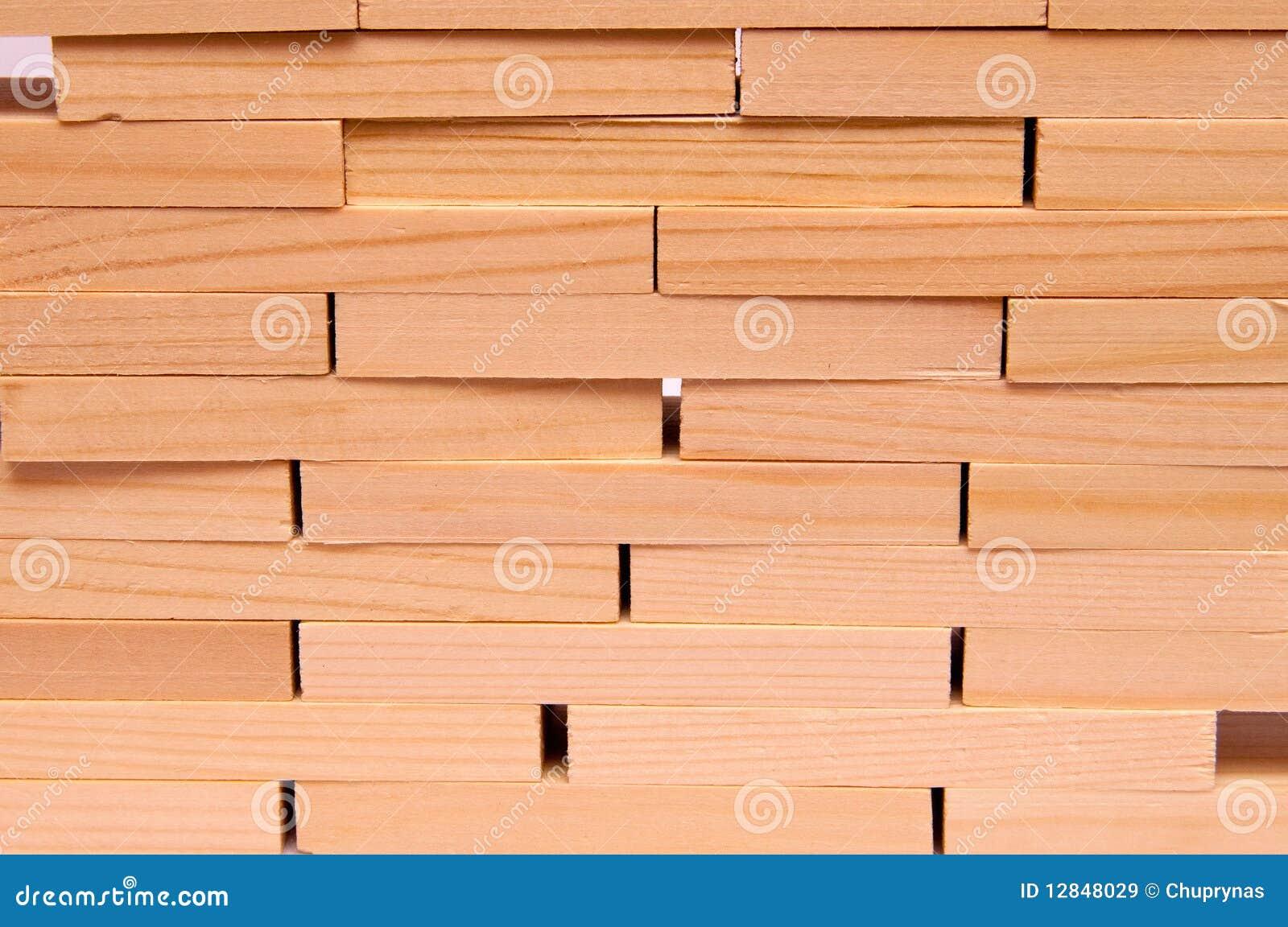 Mur des briques en bois images libres de droits image 12848029 - Mur recouvert de bois ...