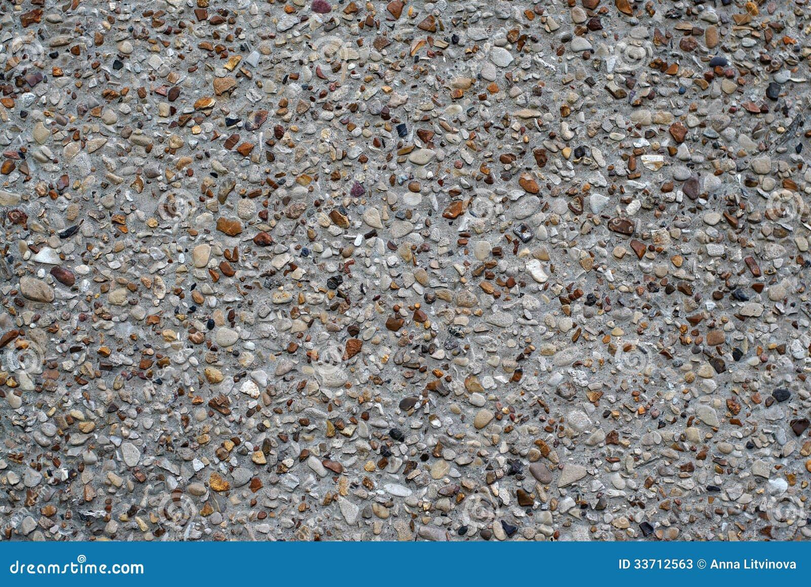 Mur en b ton de texture avec des cailloux photos stock image 33712563 - Mur en cailloux ...