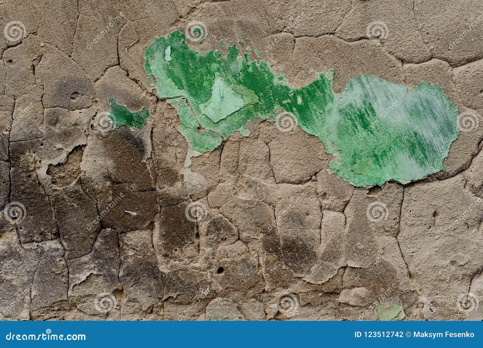 Mur En Béton Extérieur De Vieux Gris Avec épluchée La