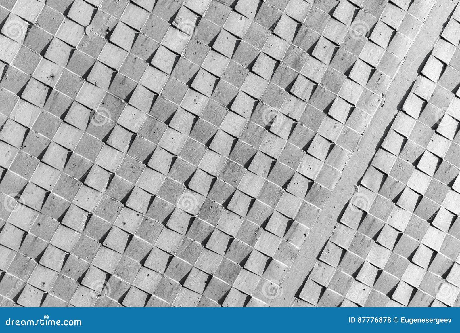 Mur en béton gris, modèle carré abstrait