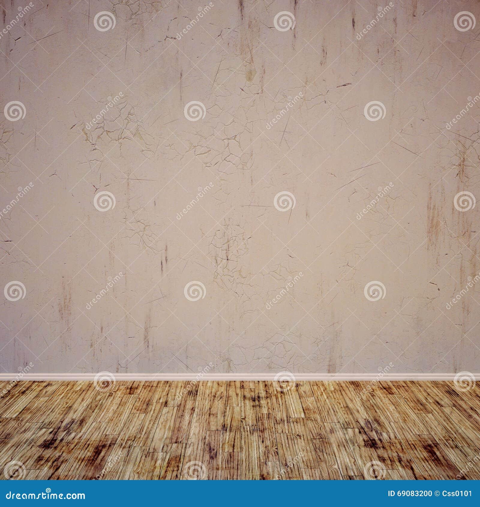 Mur En Béton Intérieur Grunge Plancher En Bois Pièce Pour