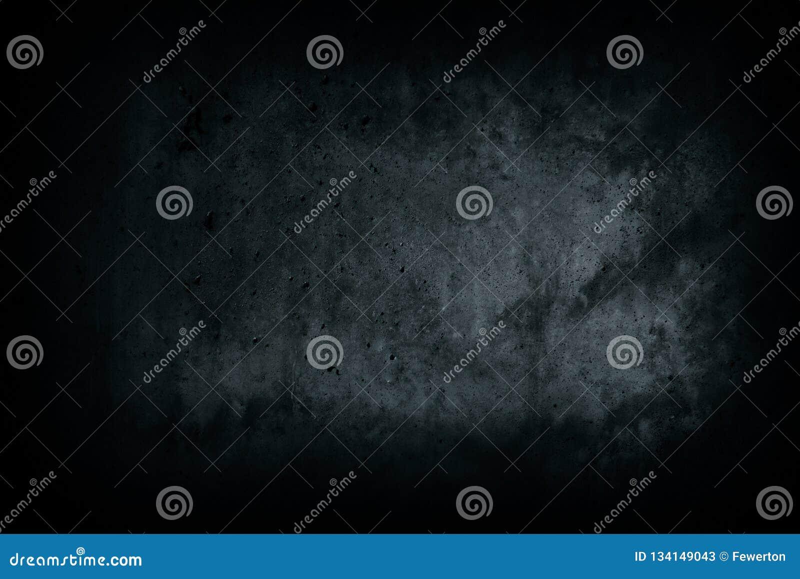 Mur en béton noir foncé d allée foncée abandonnée de maison avec les imperfections et le fond naturel de surface de texture de ci