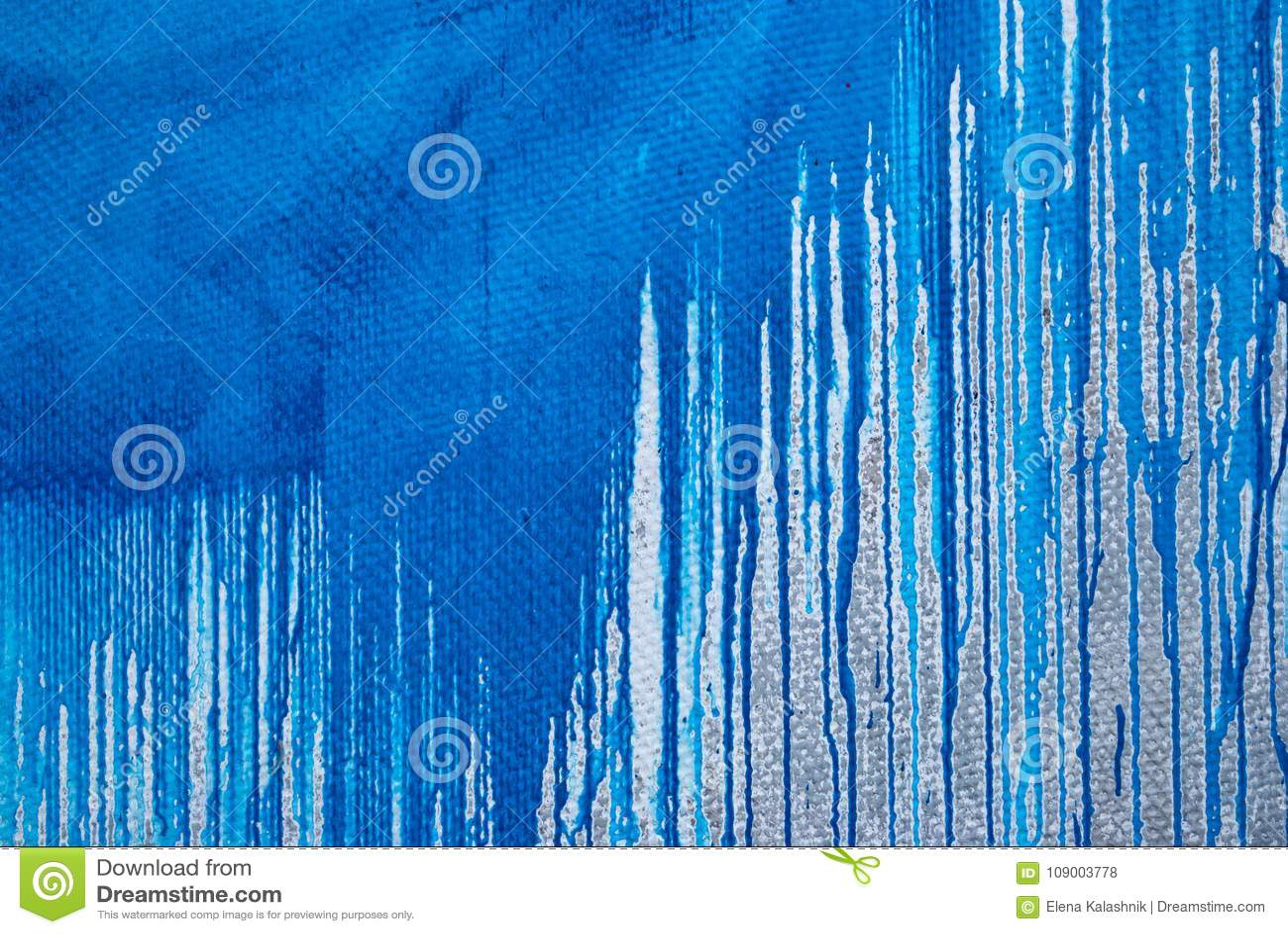 Mur En Béton Taches De Peinture Bleue Graffiti Photo Stock