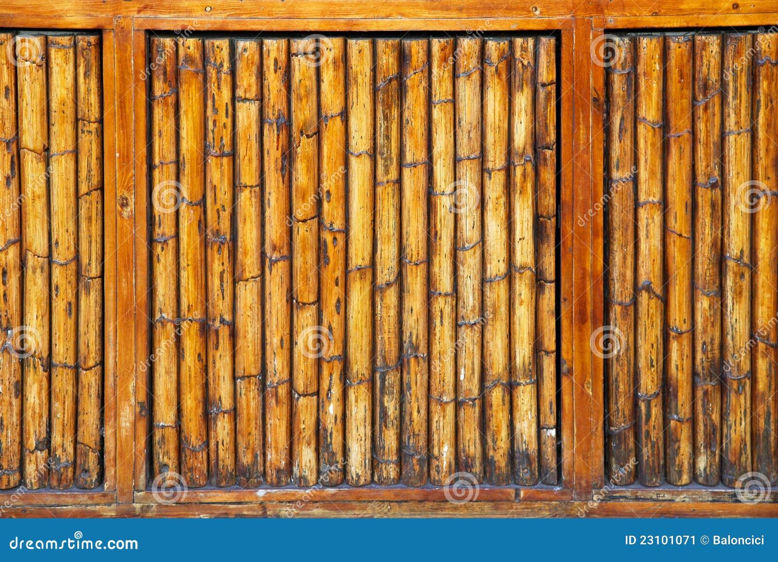 mur en bambou image stock image 23101071. Black Bedroom Furniture Sets. Home Design Ideas
