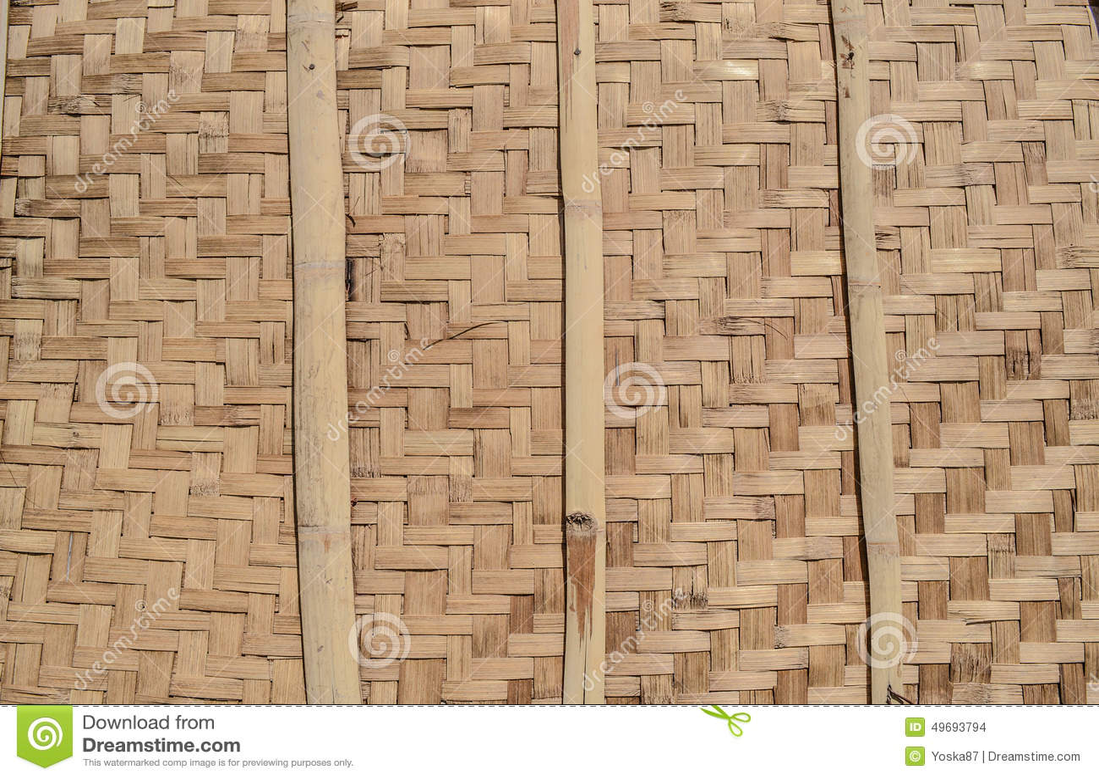 mur en bambou en osier fond texture photo stock image 49693794. Black Bedroom Furniture Sets. Home Design Ideas