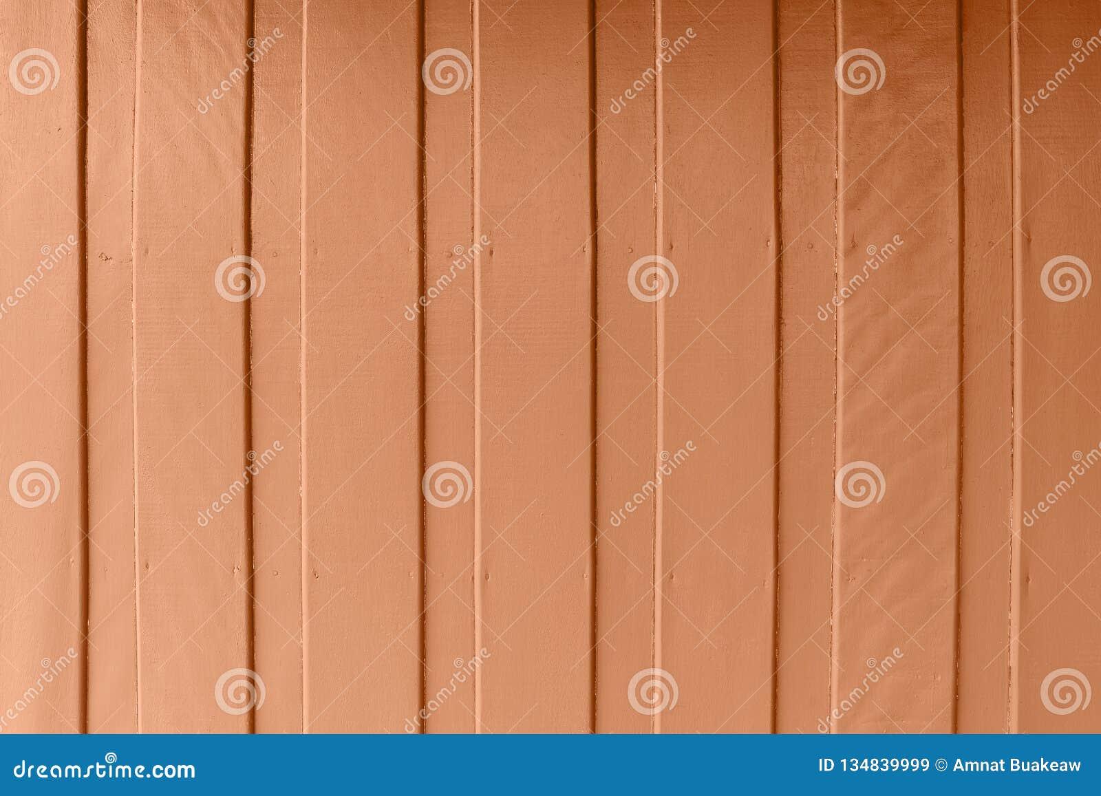 Mur En Bois Avec Secteur De Couleur Brune Orange De Peinture