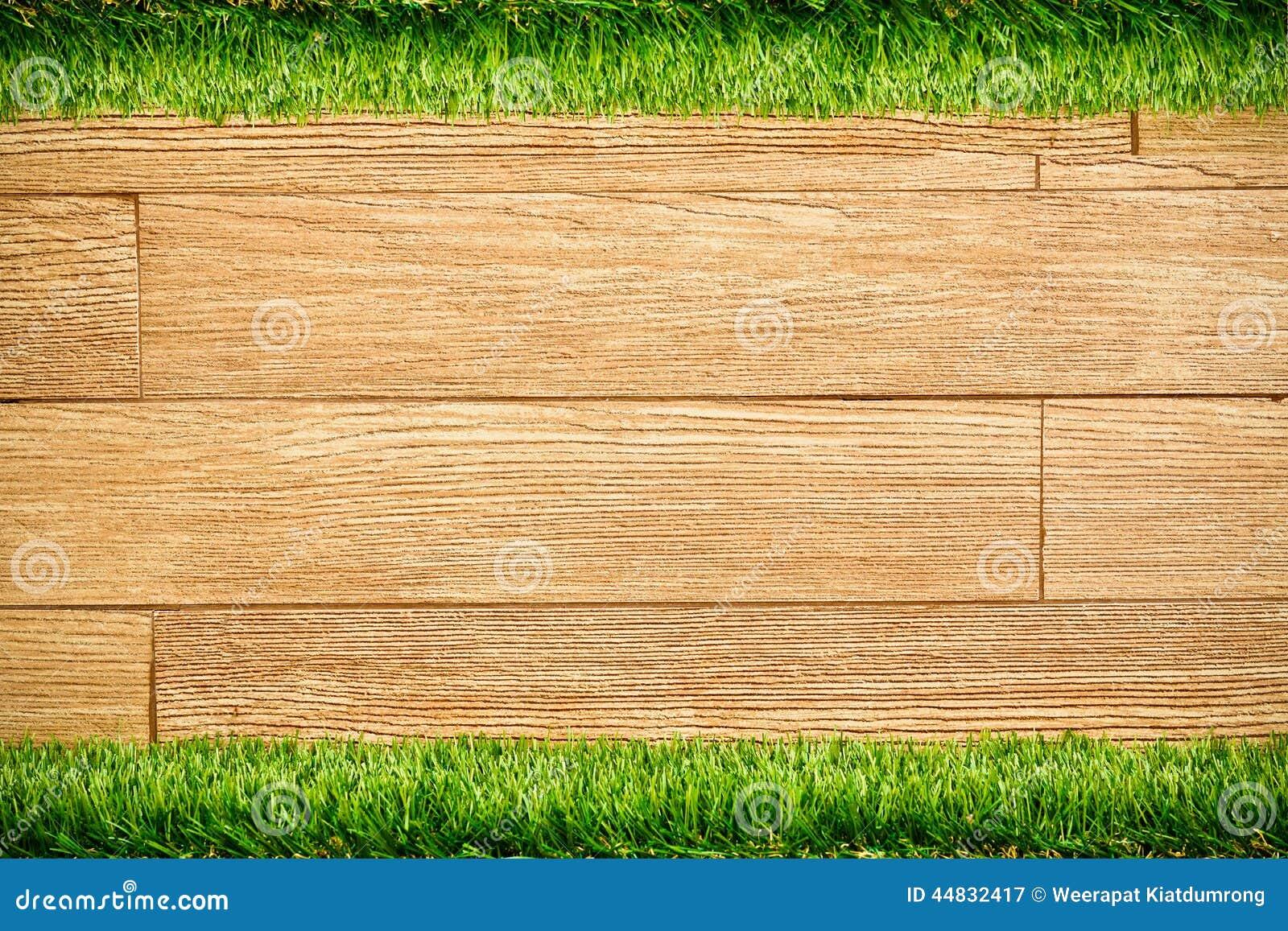 mur en bois de planche avec l 39 herbe image stock image 44832417. Black Bedroom Furniture Sets. Home Design Ideas