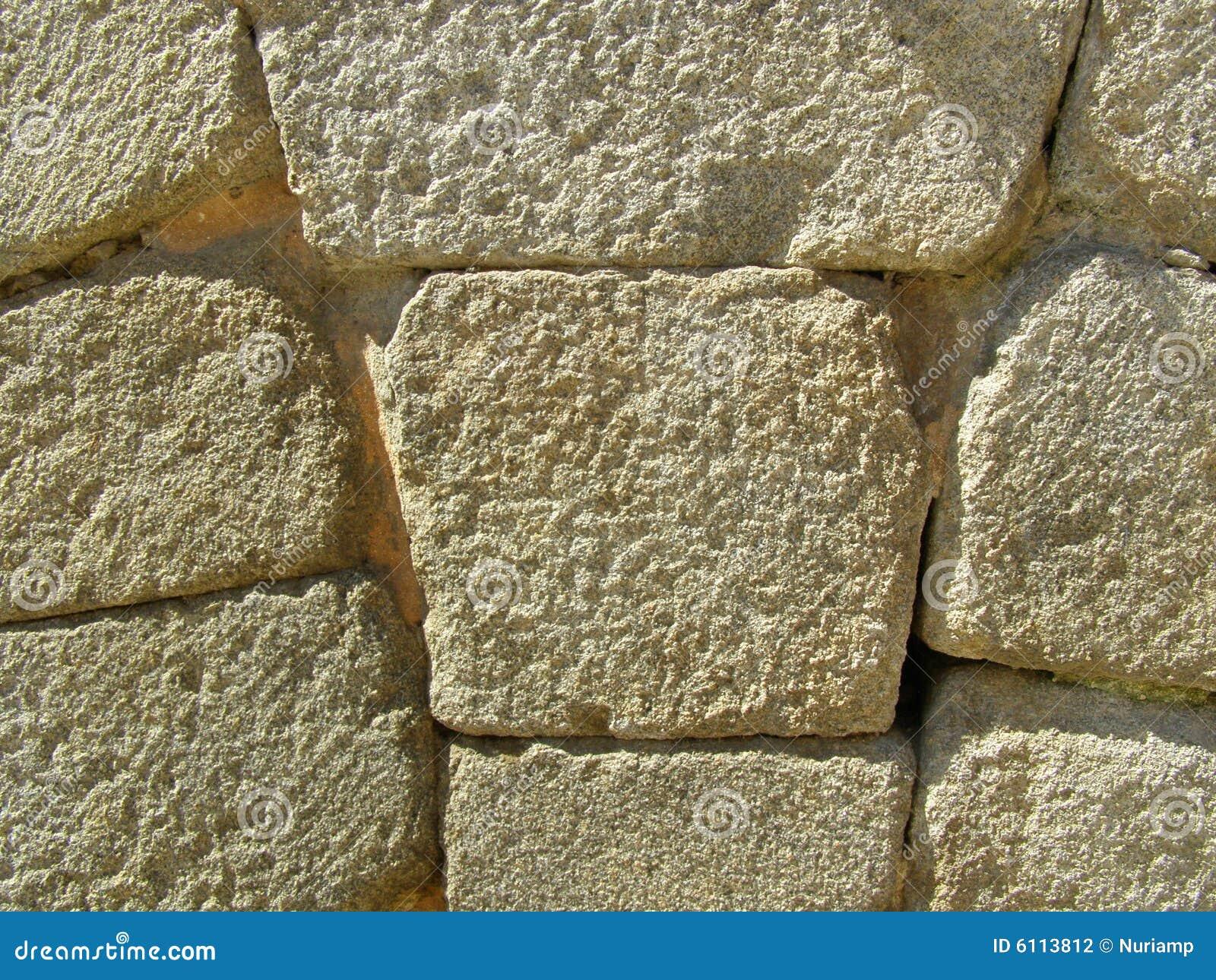 Mur en pierre abstrait