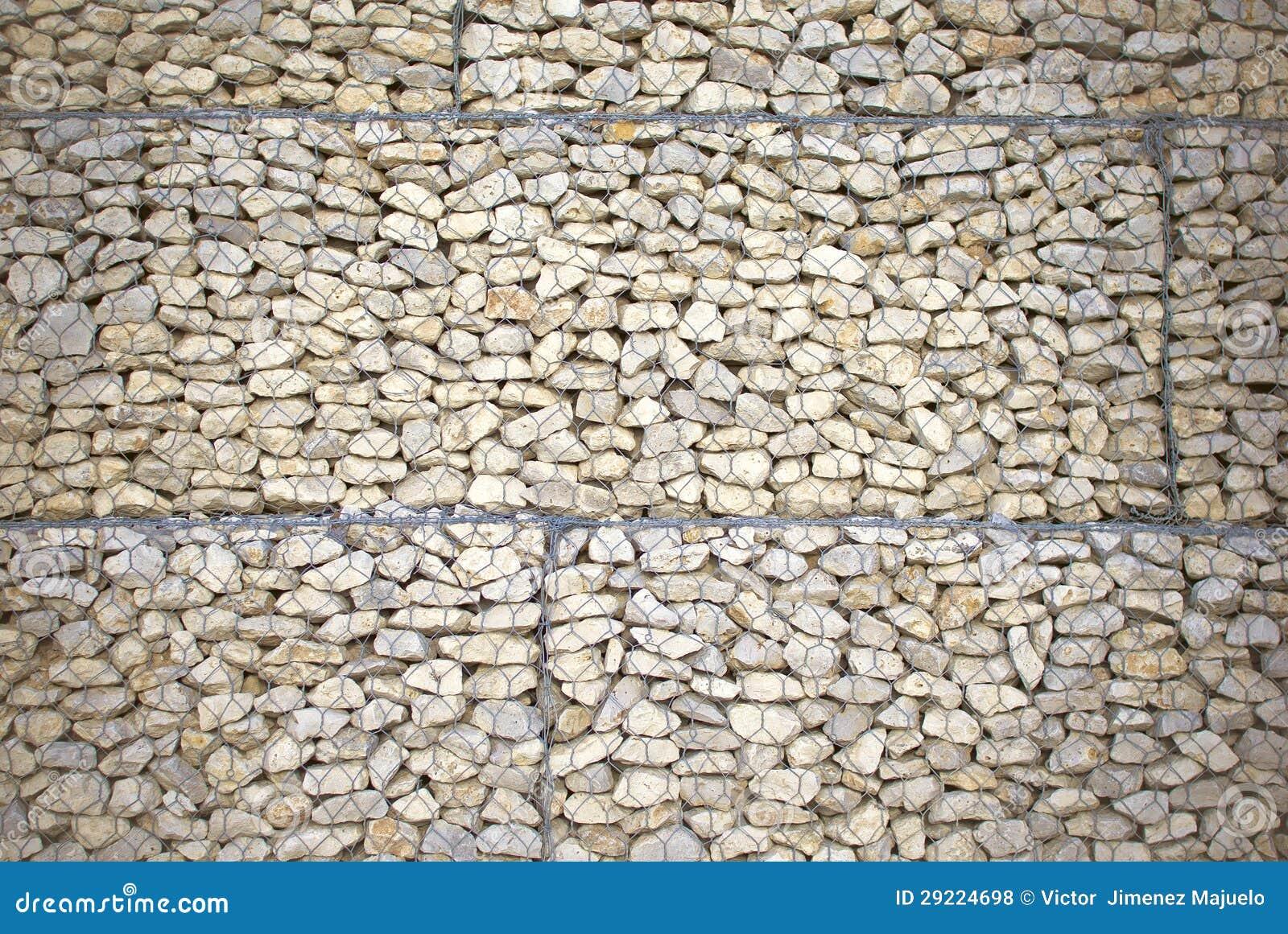Mur de pierre exterieur en grillage images for Grillage jardin avec pierre