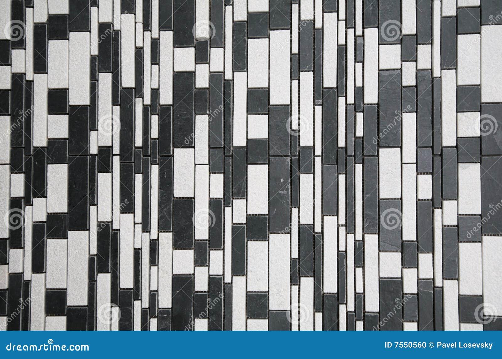 Mur en pierre blanc noir photo stock image 7550560 - Quelle couleur de mur avec des meubles blancs ...